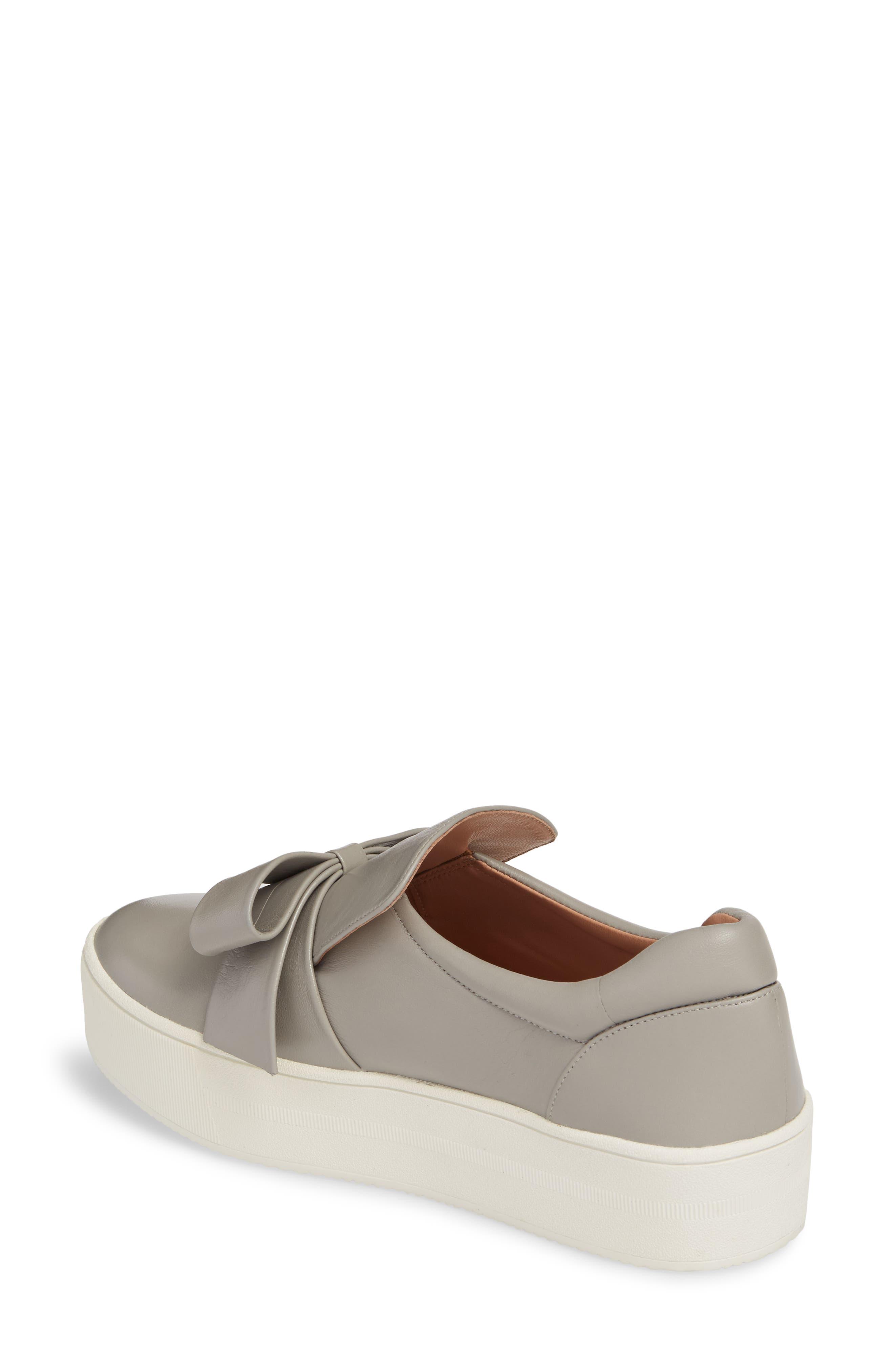 Vania Bow Platform Sneaker,                             Alternate thumbnail 4, color,
