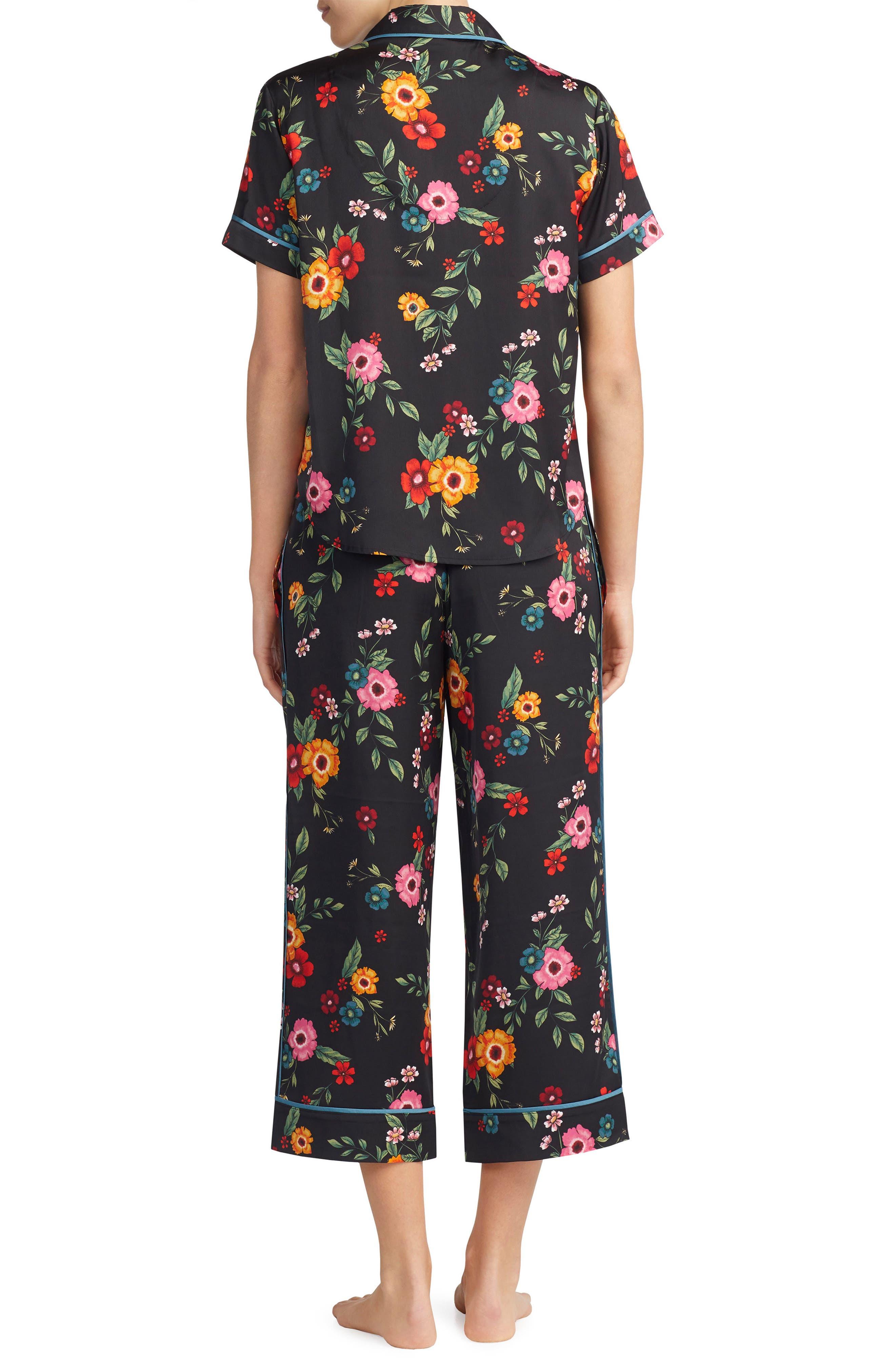 Satin Pajama Top,                             Alternate thumbnail 6, color,