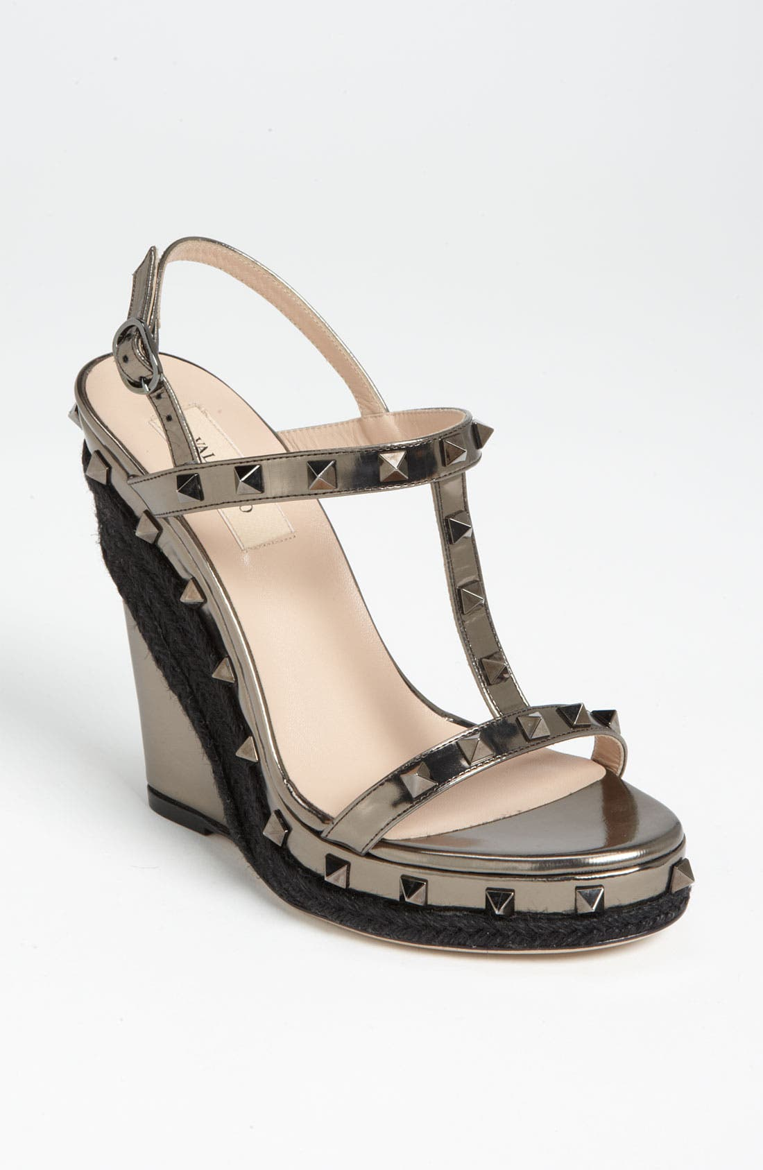 'Rockstud' Wedge Sandal,                             Main thumbnail 1, color,                             220