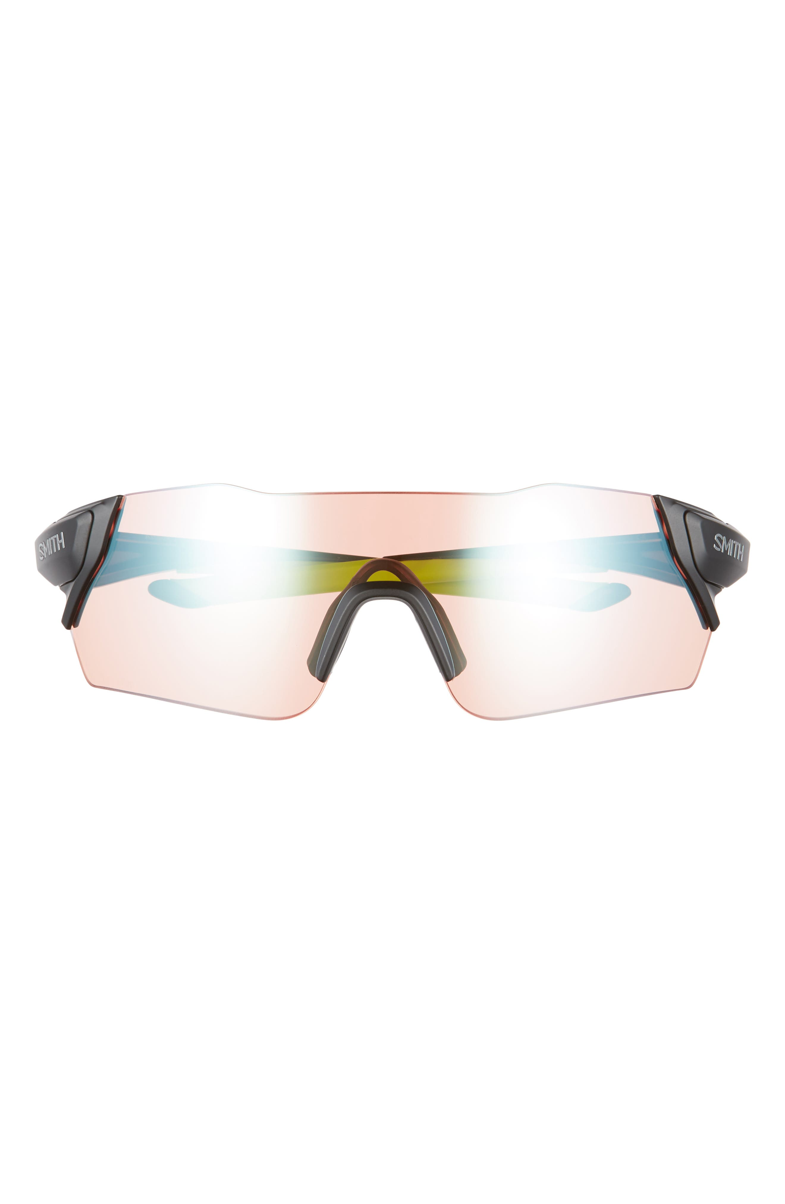 Attack 130mm ChromaPop<sup>™</sup> Shield Sunglasses,                             Alternate thumbnail 3, color,                             MATTE BLACK REACTOR