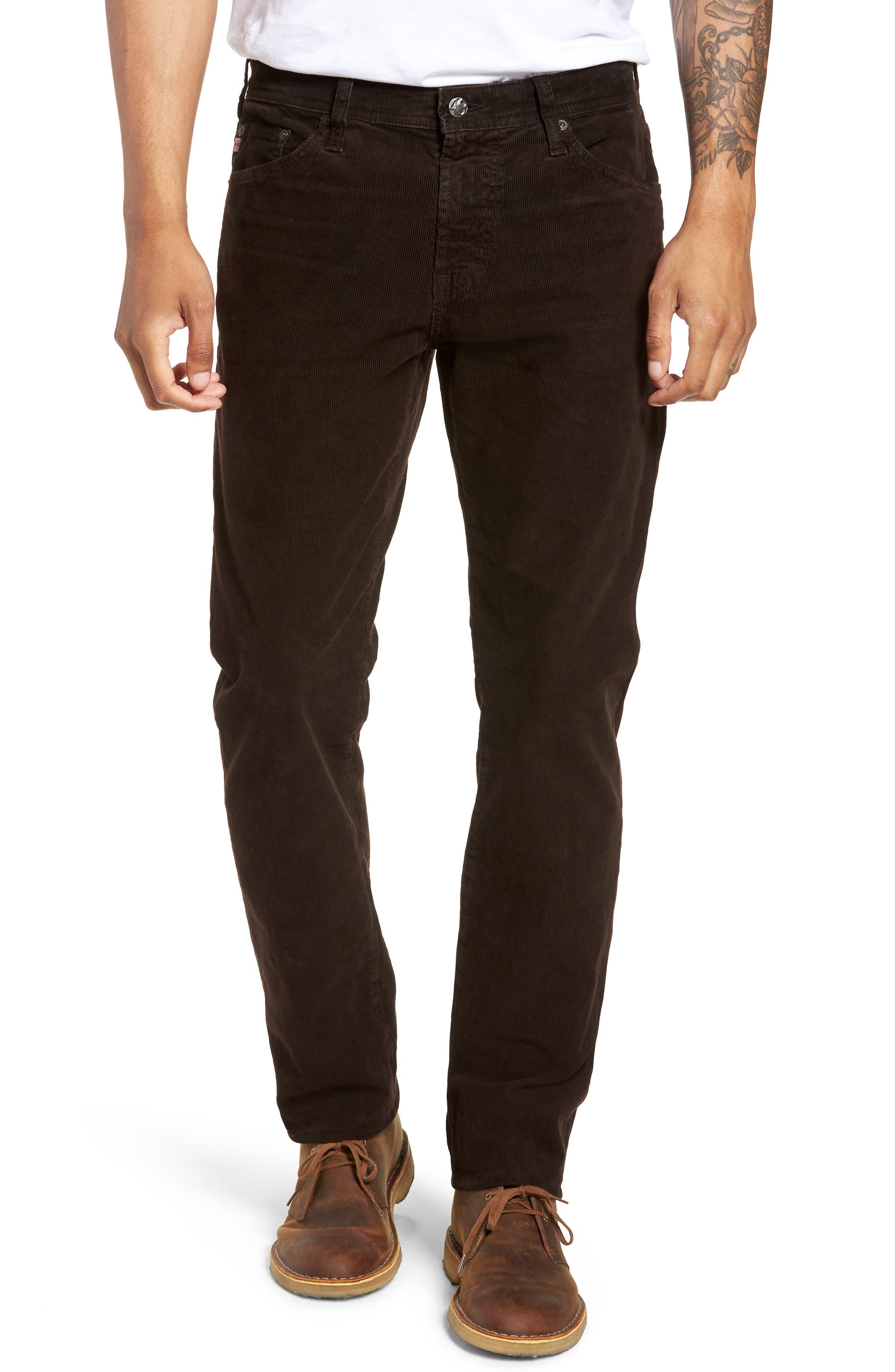 Everett Straight Leg Corduroy Pants,                         Main,                         color, SULFUR SHUTTER