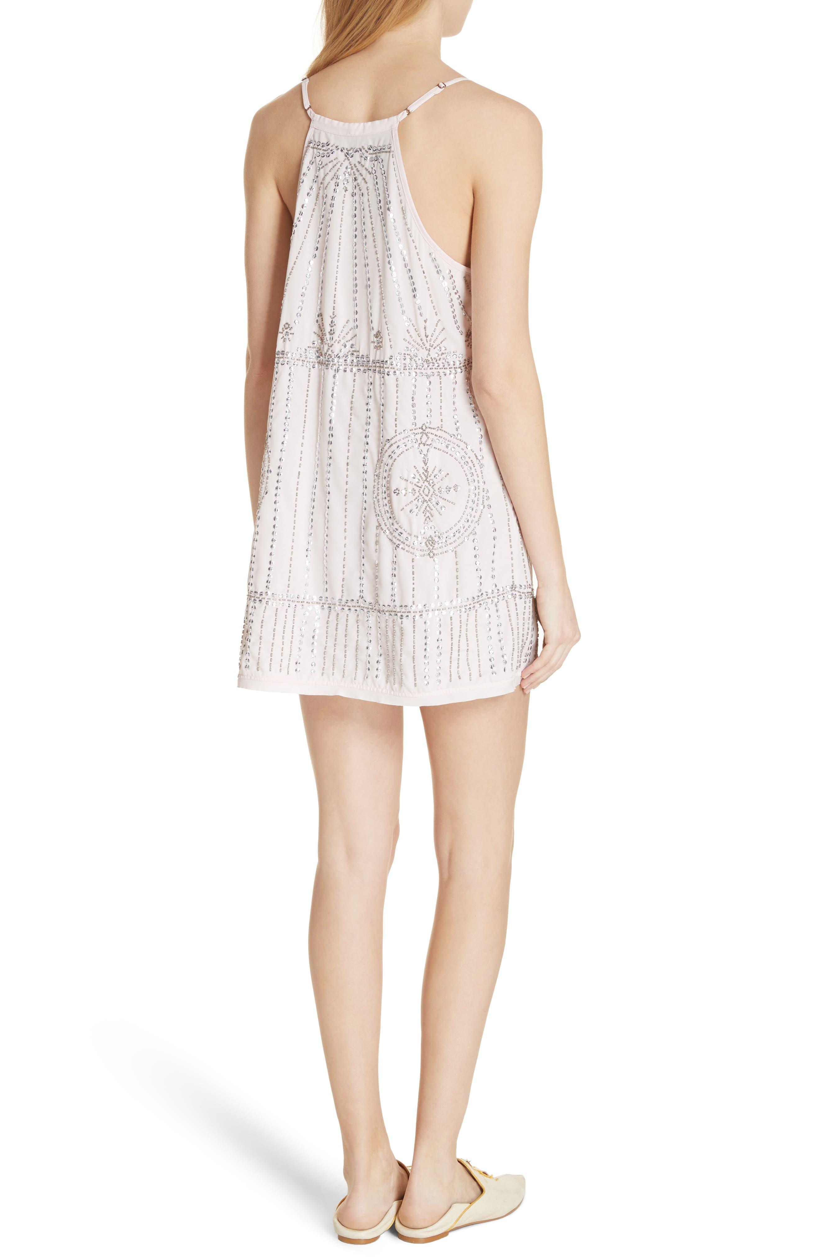 Sedona Embellished Slipdress,                             Alternate thumbnail 4, color,