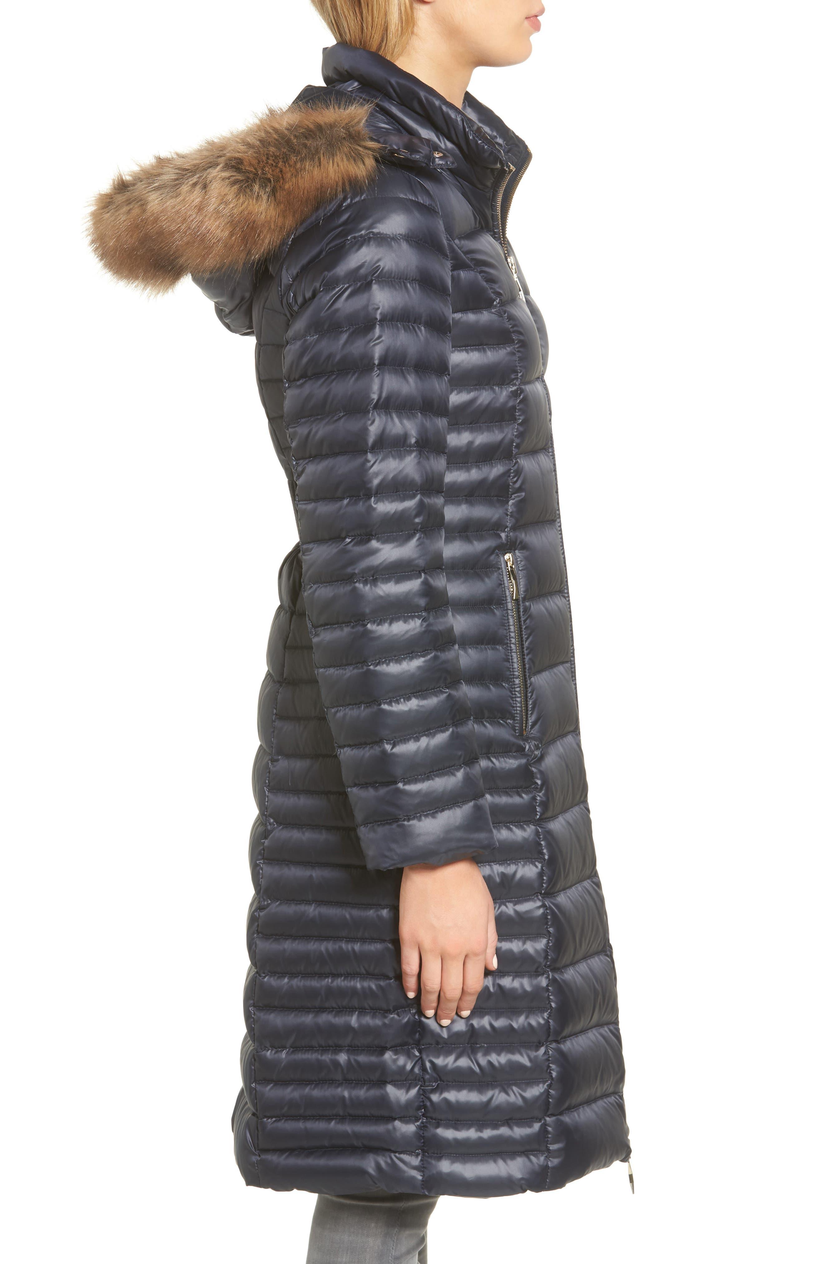 down puffer coat with faux fur trim,                             Alternate thumbnail 12, color,