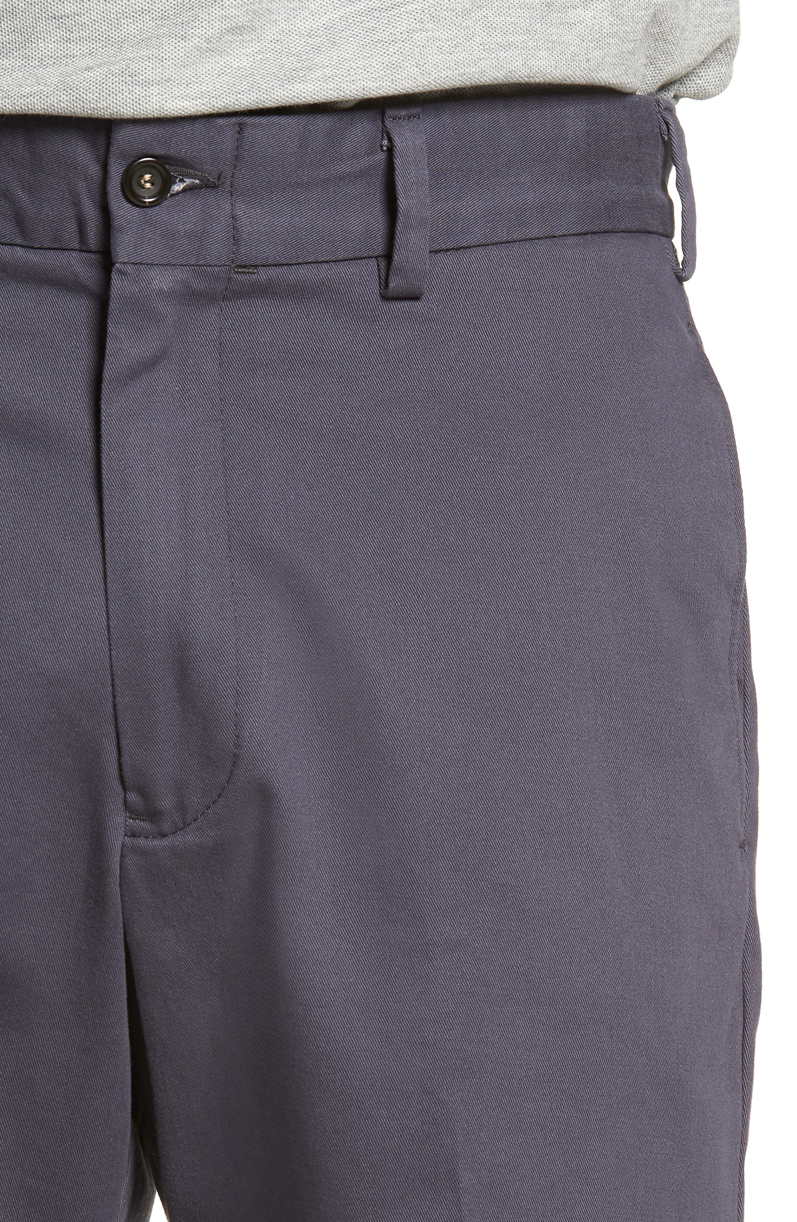 M2 Classic Fit Flat Front Vintage Twill Shorts,                             Alternate thumbnail 4, color,
