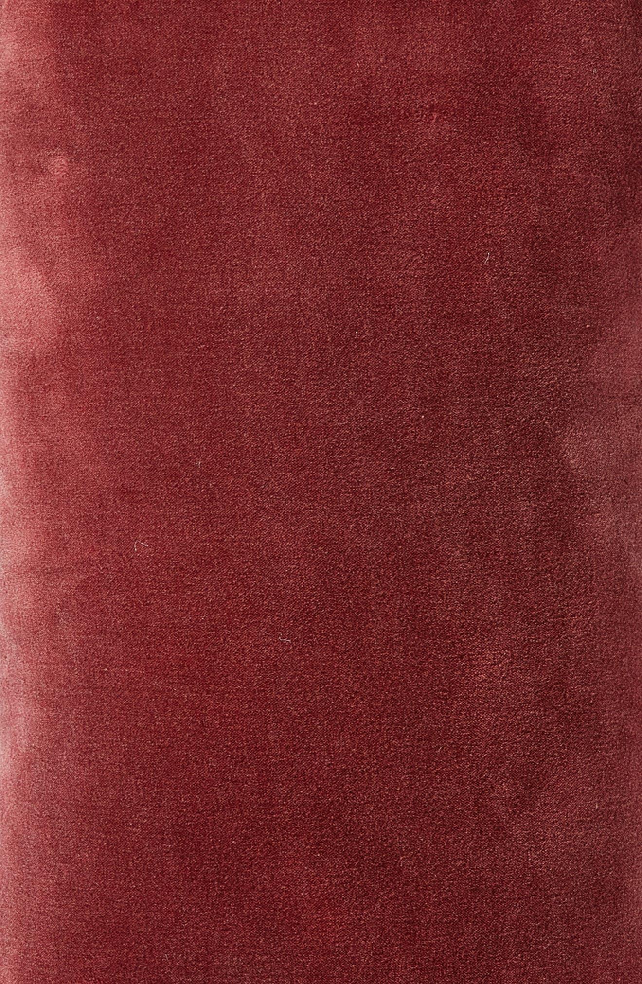 Velvet Accent Pillow,                             Alternate thumbnail 3, color,                             BROWN ROSE