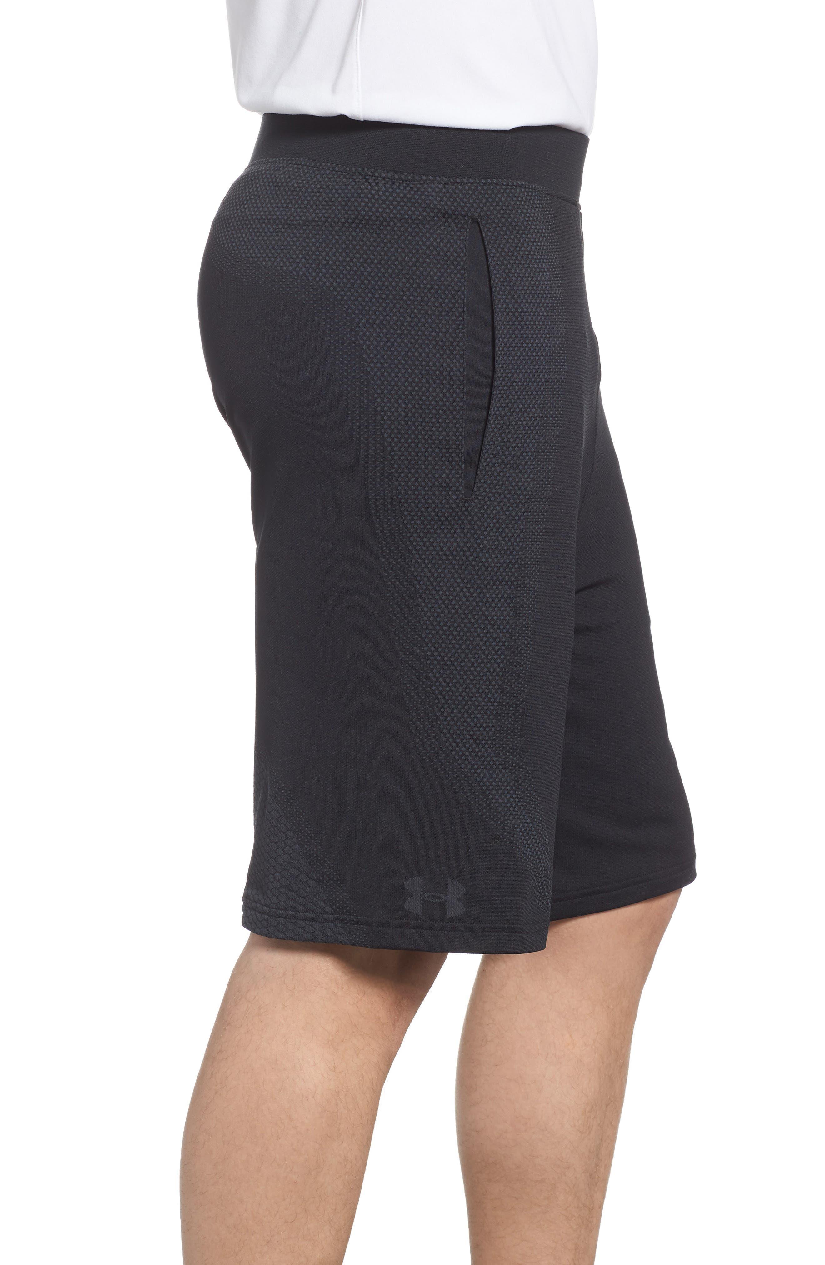 Threadborne Seamless Shorts,                             Alternate thumbnail 3, color,                             BLACK/ STEALTH GREH