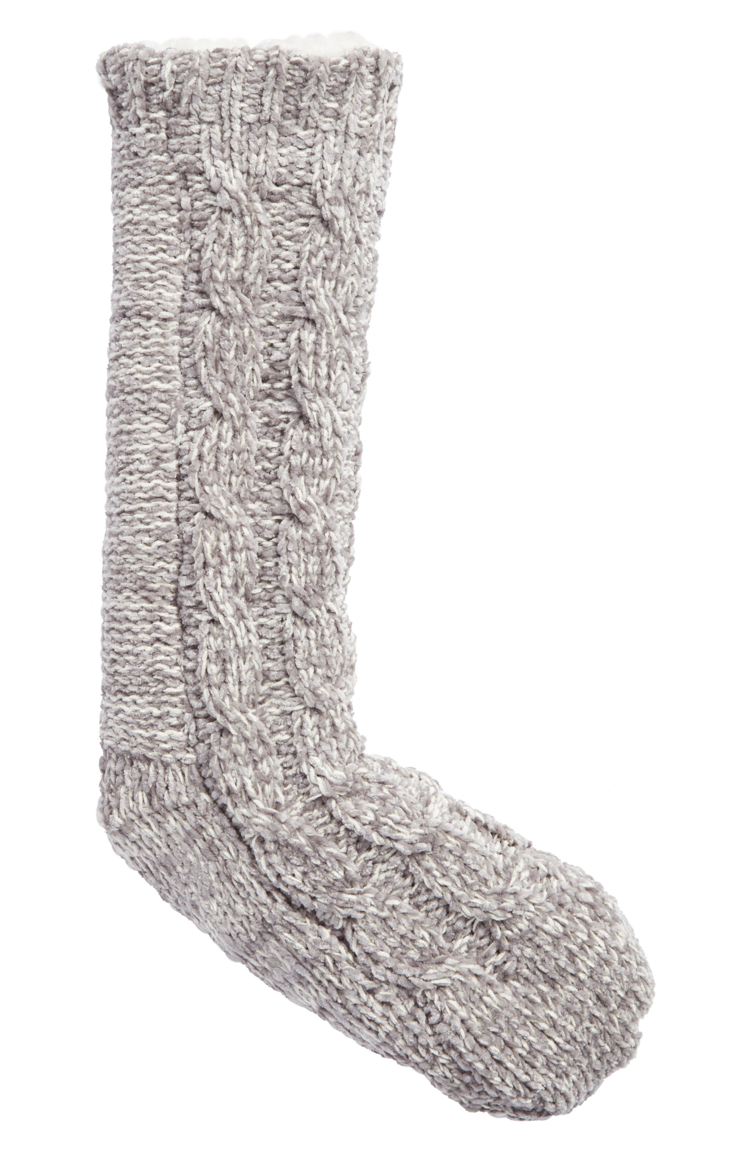 Cable Knit Slipper Socks,                             Main thumbnail 2, color,