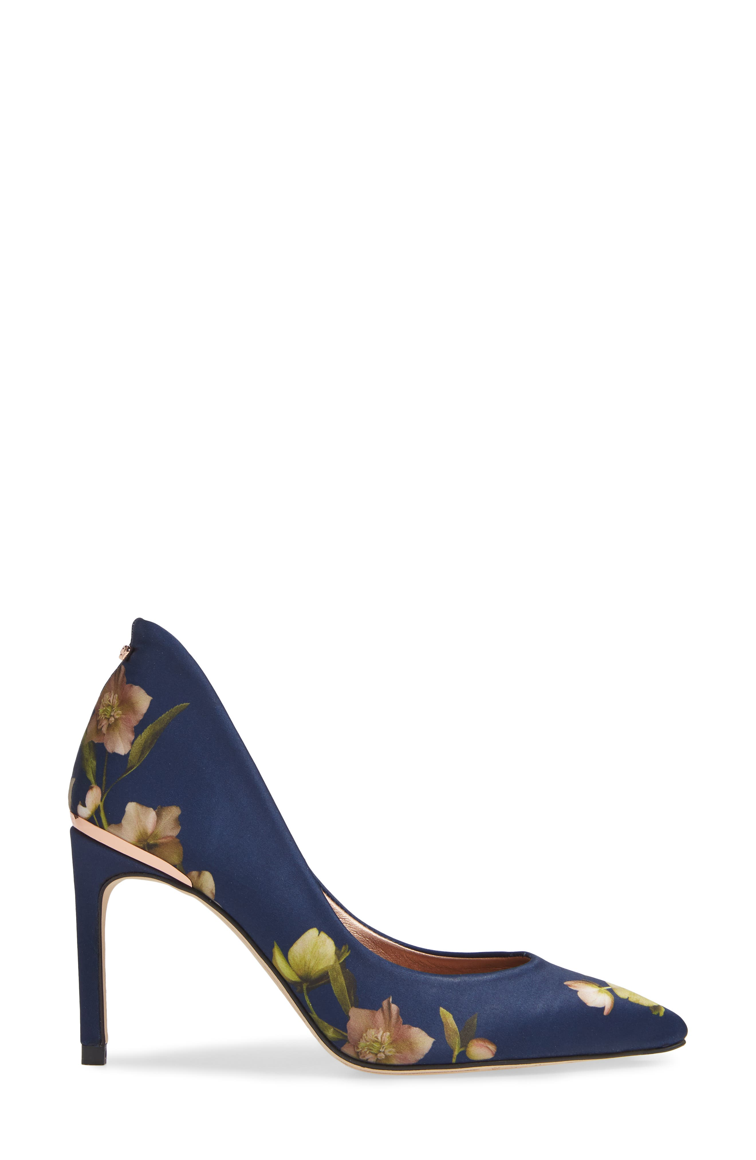Saviop Pump,                             Alternate thumbnail 3, color,                             NAVY FABRIC