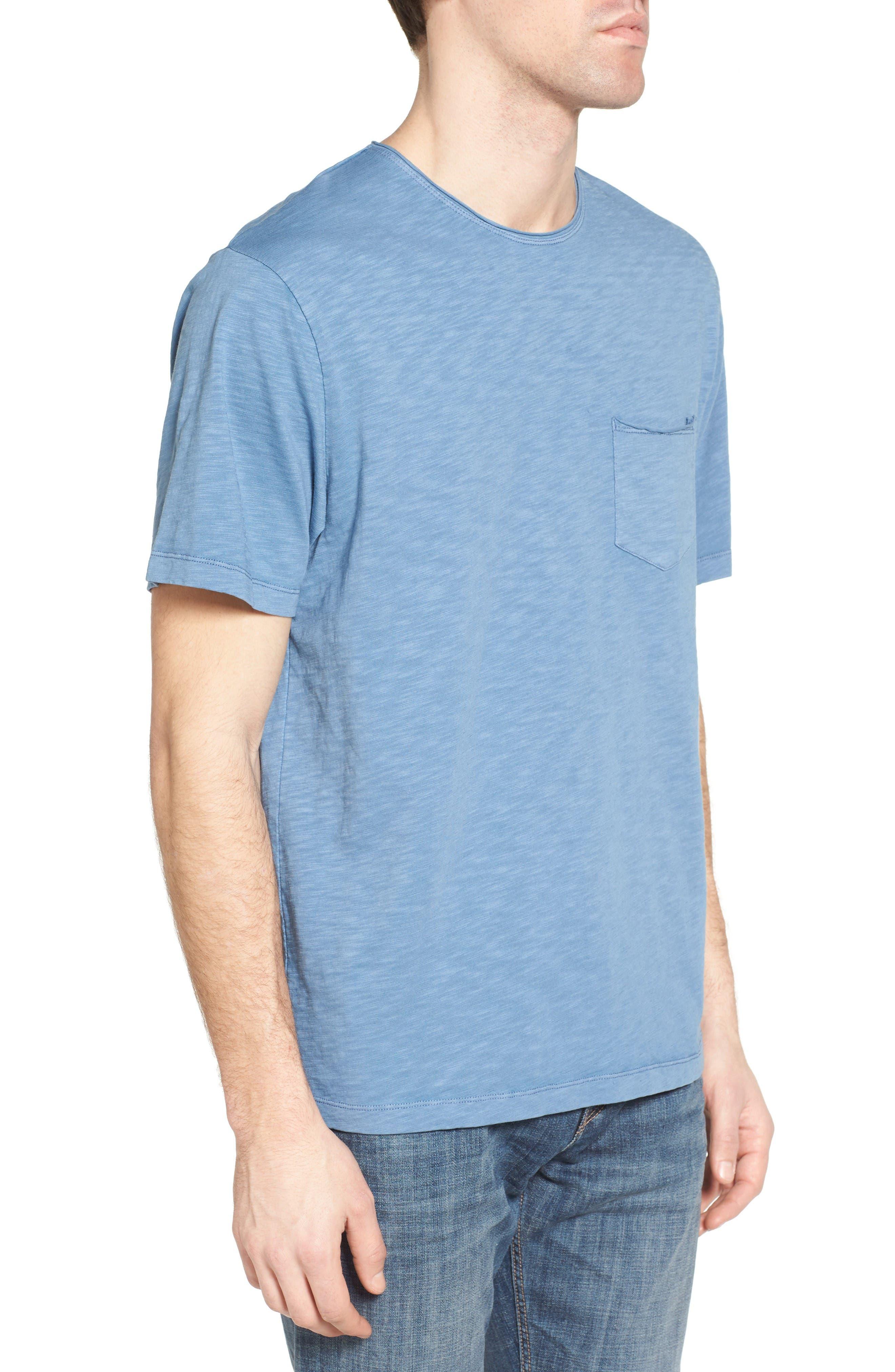 Raw Edge Slub T-Shirt,                             Alternate thumbnail 10, color,                             VINTAGE BLUE