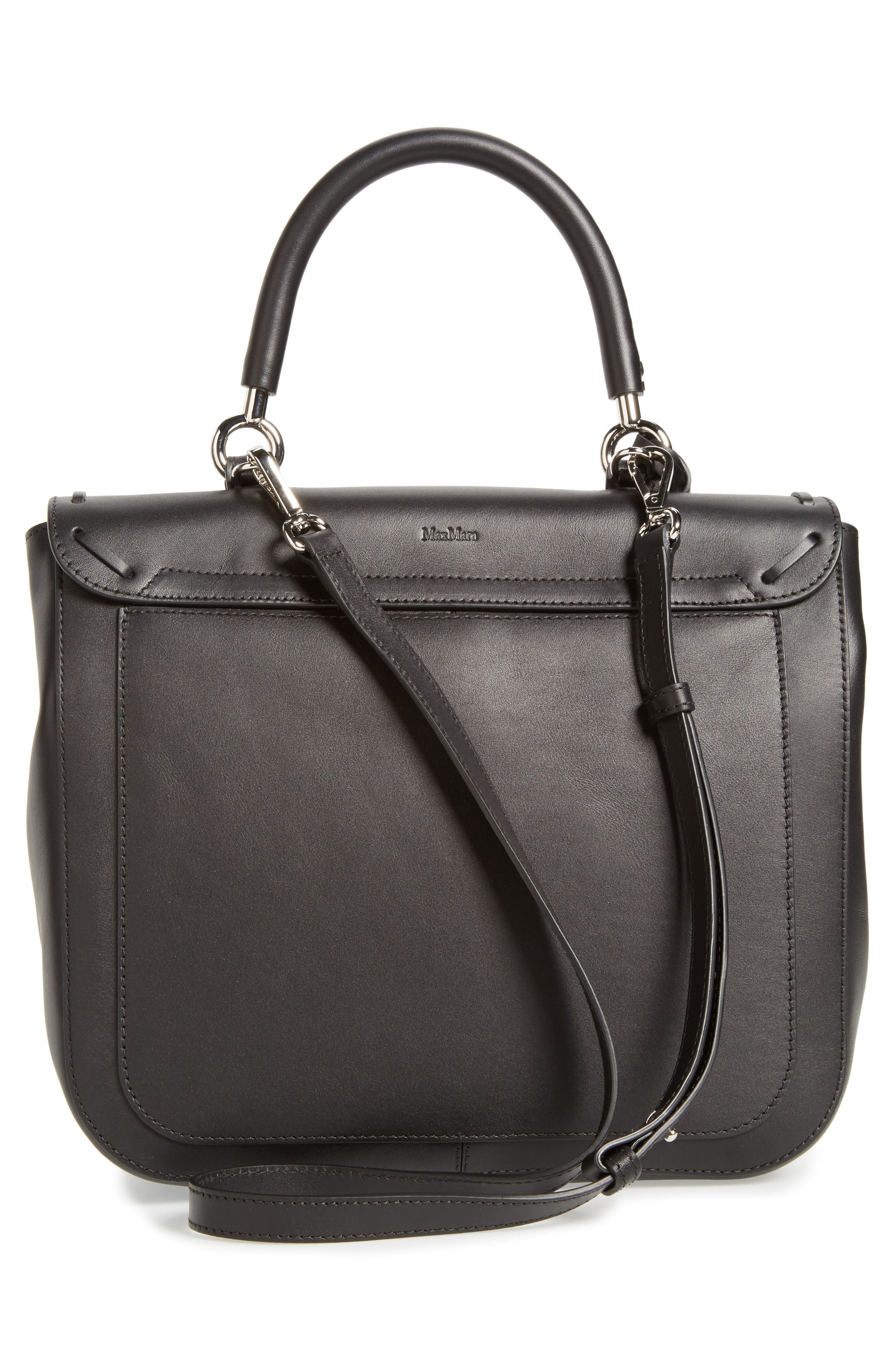 BoBag Leather Satchel,                             Alternate thumbnail 4, color,                             001