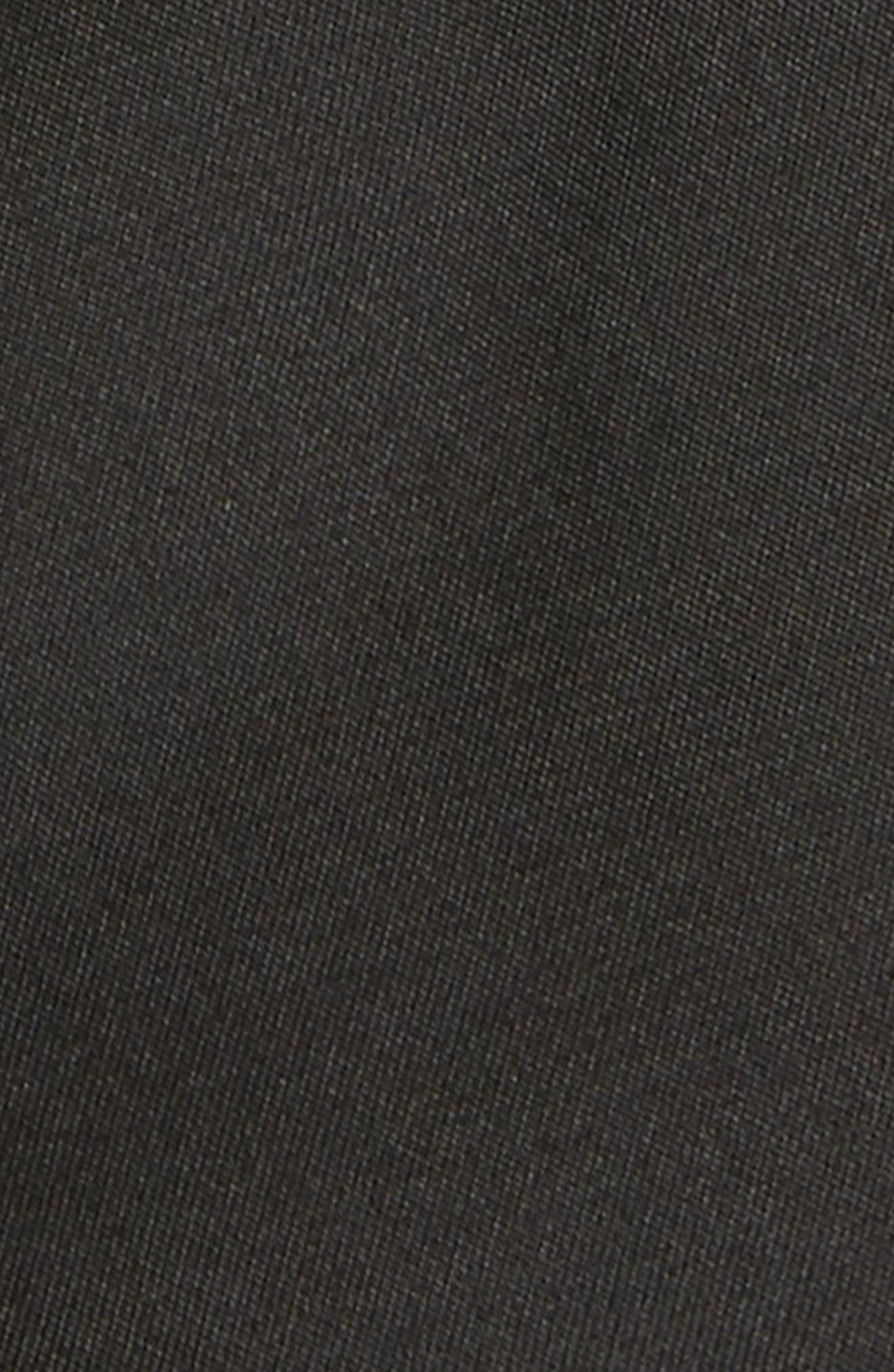 MICHAEL KORS,                             Solid Matte Silk Tie,                             Alternate thumbnail 2, color,                             BLACK