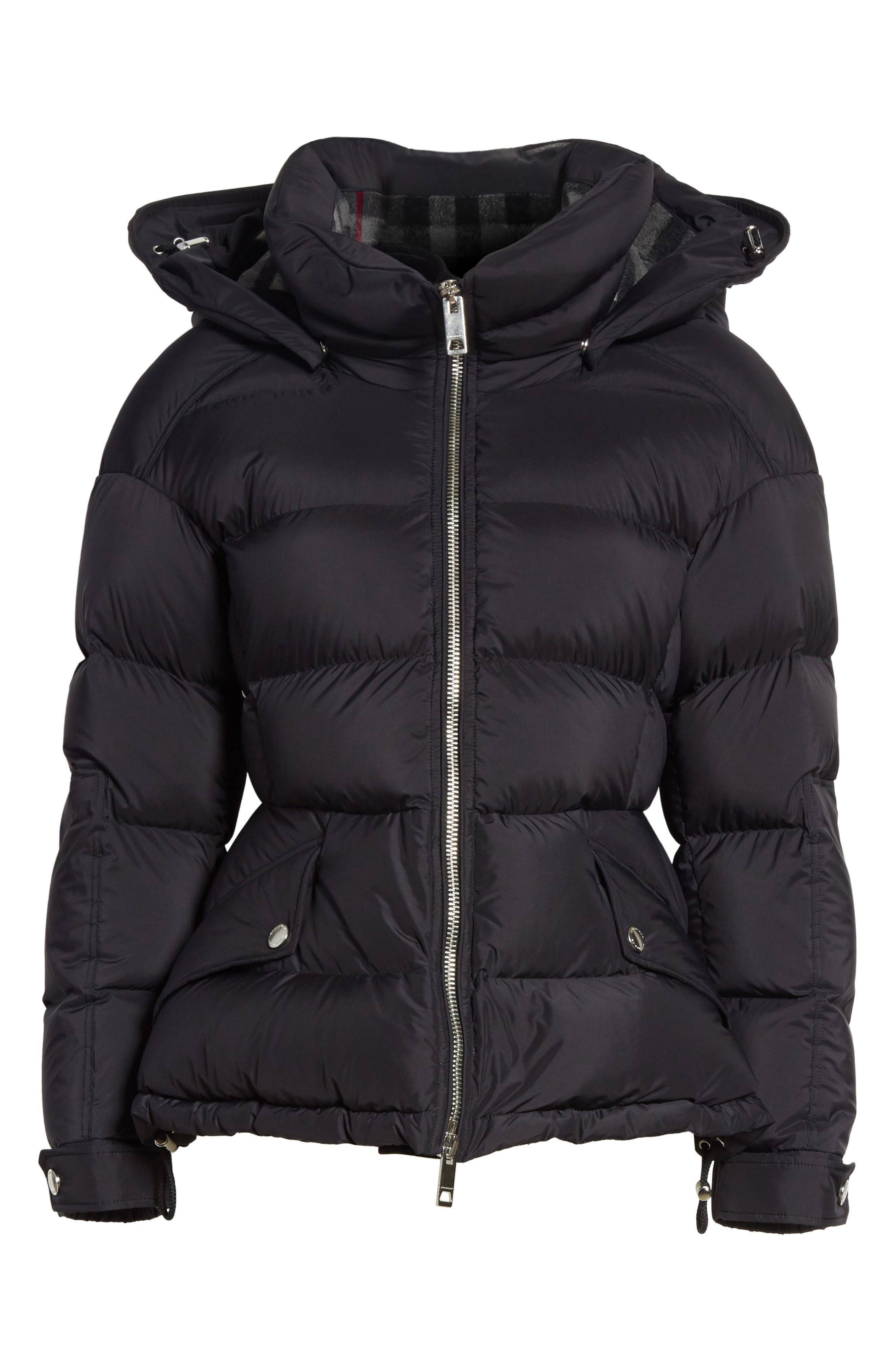 Fleetwood Hooded Down Puffer Jacket,                             Alternate thumbnail 5, color,                             001