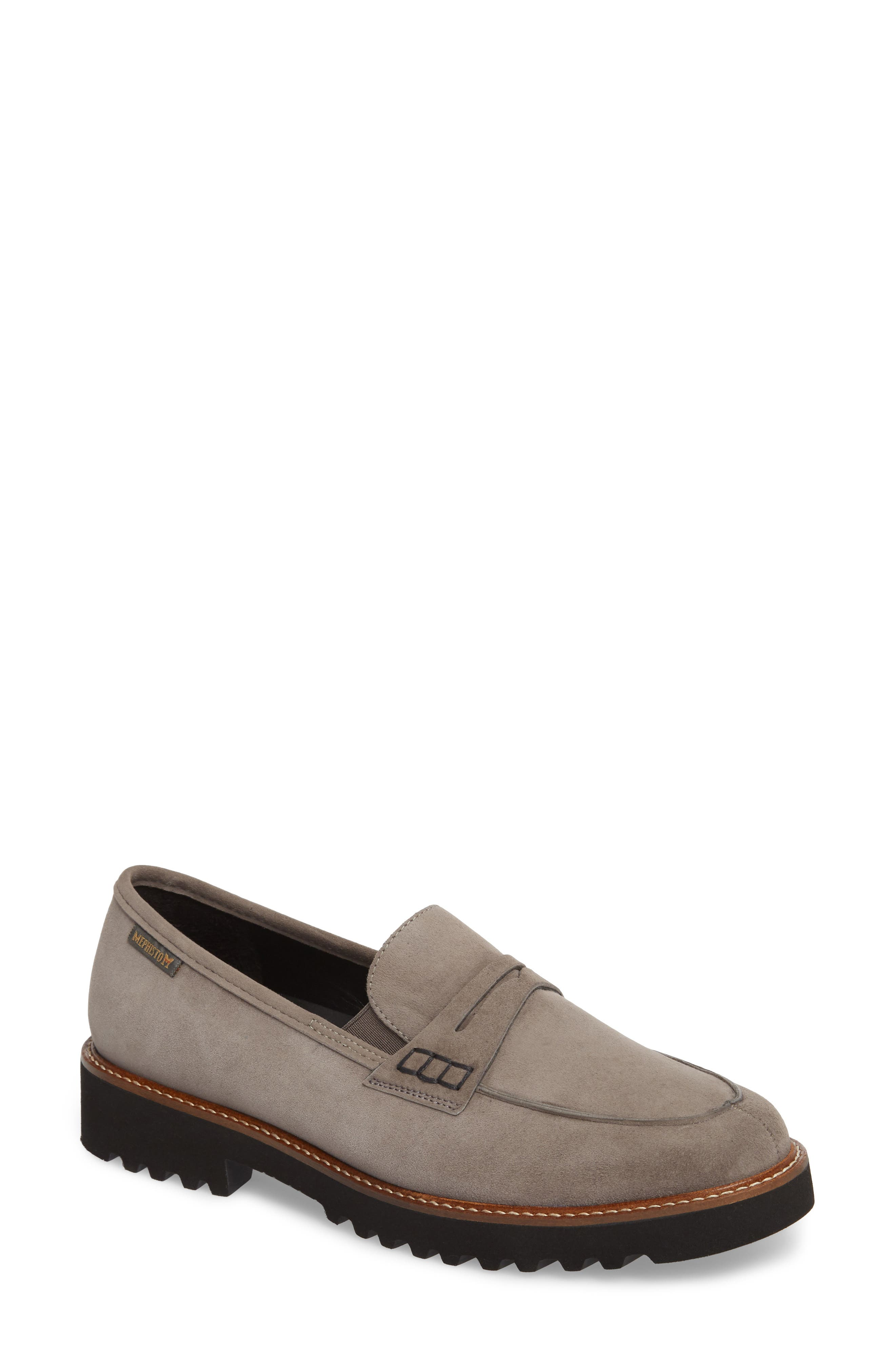 Sidney Penny Loafer,                             Main thumbnail 1, color,                             GREY SUEDE