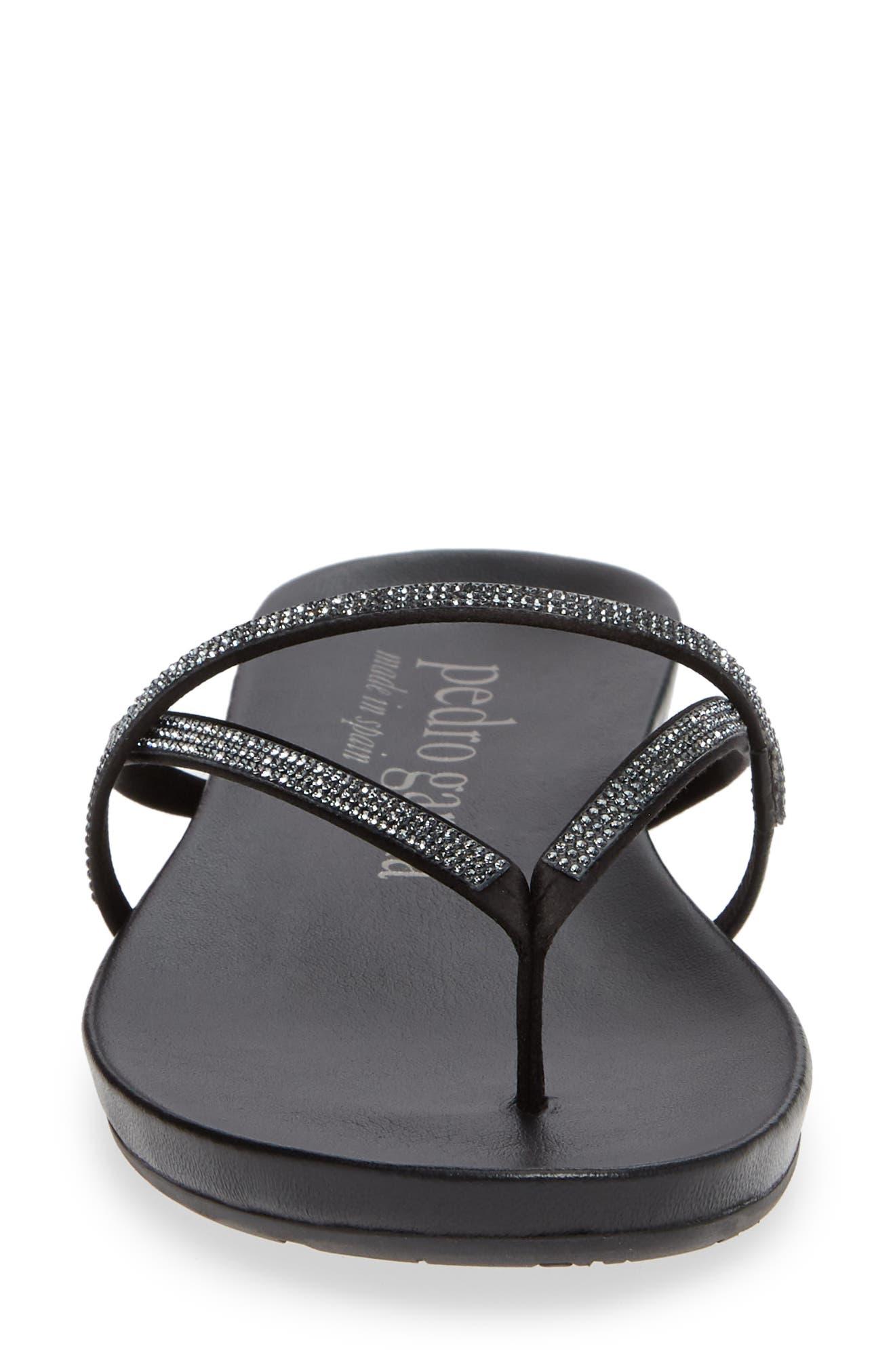 Giulia Crystal Embellished Sandal,                             Alternate thumbnail 4, color,                             METEORITE SATIN