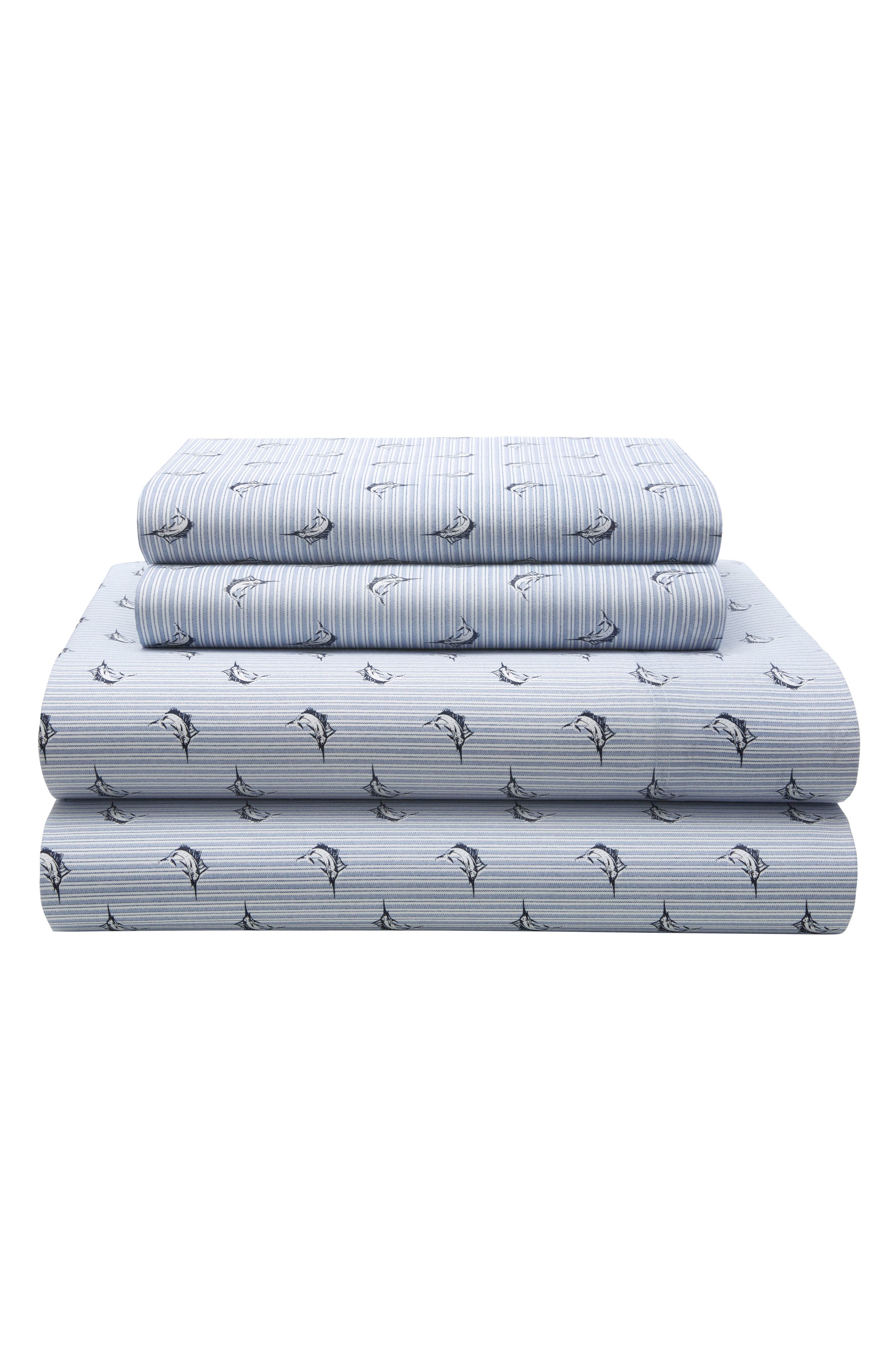 TOMMY HILFIGER,                             Marlin Stripe Sheet Set,                             Main thumbnail 1, color,                             400