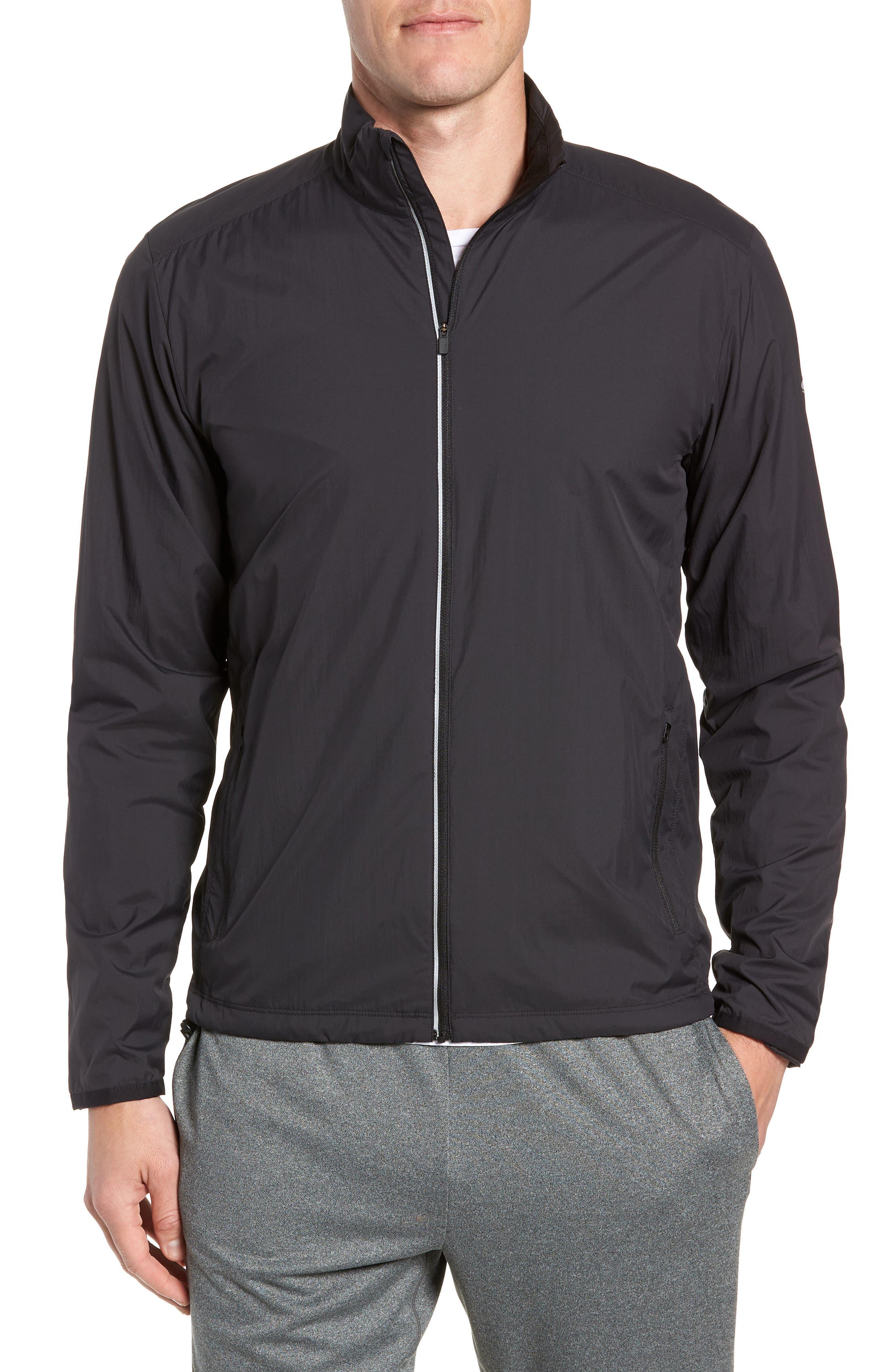 Cool-Lite<sup>™</sup> Incline Windbreaker Jacket,                         Main,                         color, BLACK
