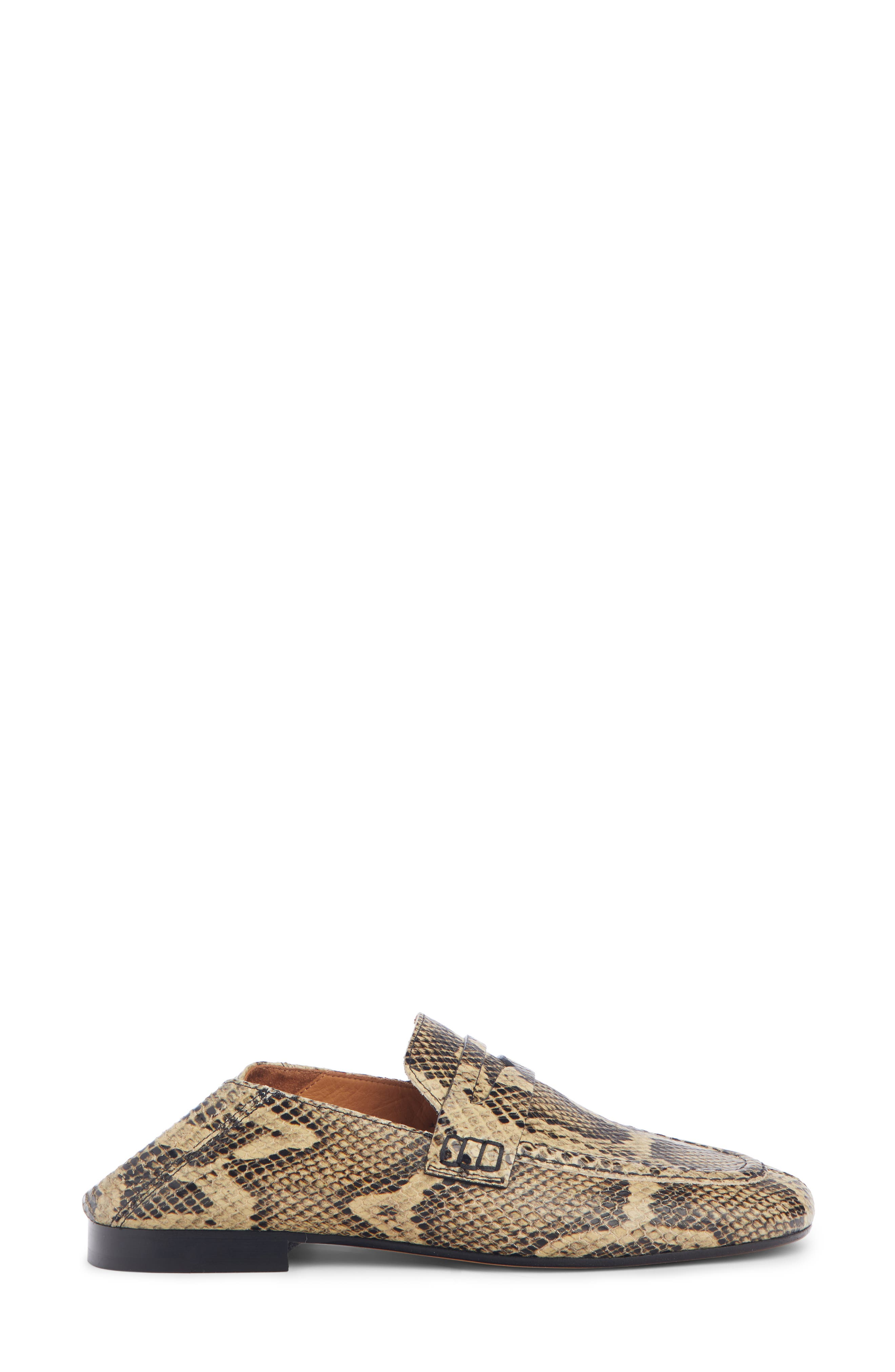 Fezzy Snakeskin Embossed Convertible Loafer,                             Alternate thumbnail 4, color,                             NATURAL EXOTIC