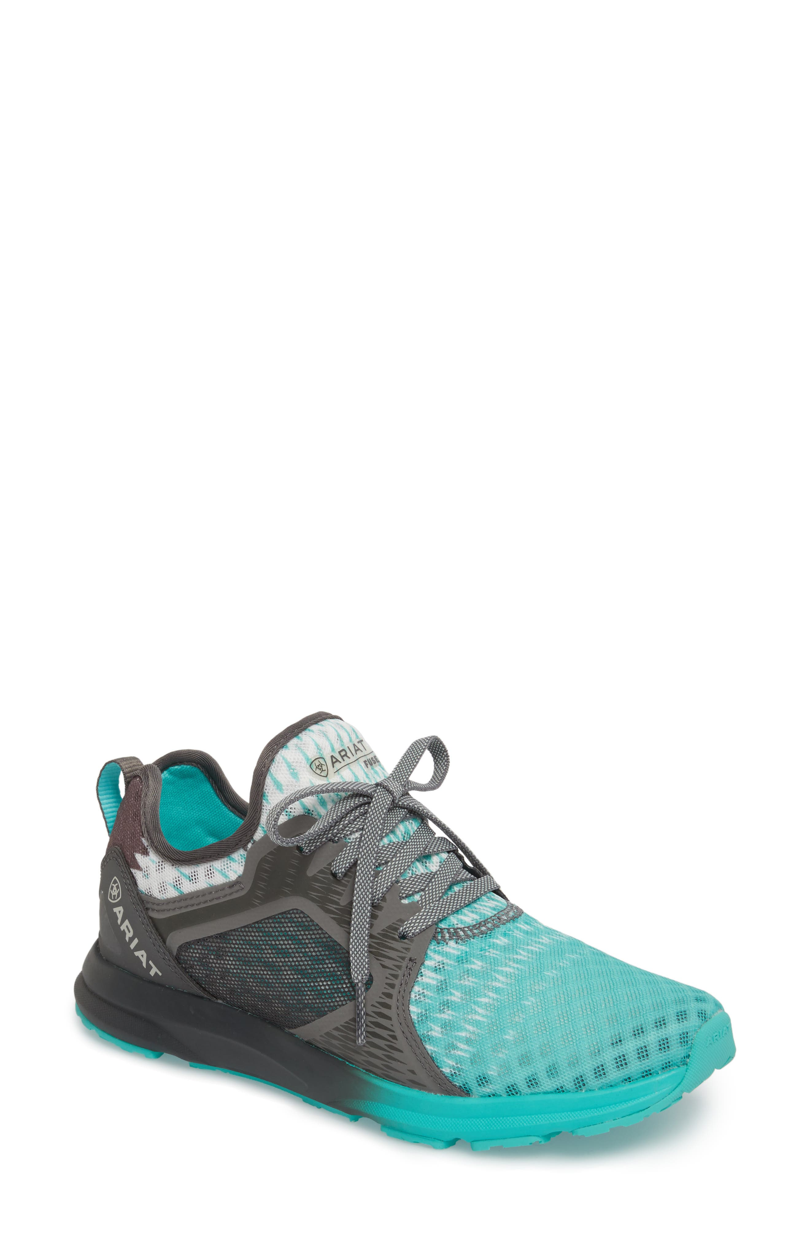 ARIAT Fuse Ombré Sneaker, Main, color, TURQUOISE MESH