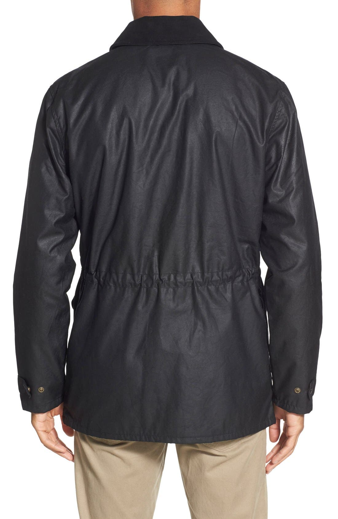 'Cover Cloth Mile Marker' Waxed Cotton Coat,                             Alternate thumbnail 2, color,                             001