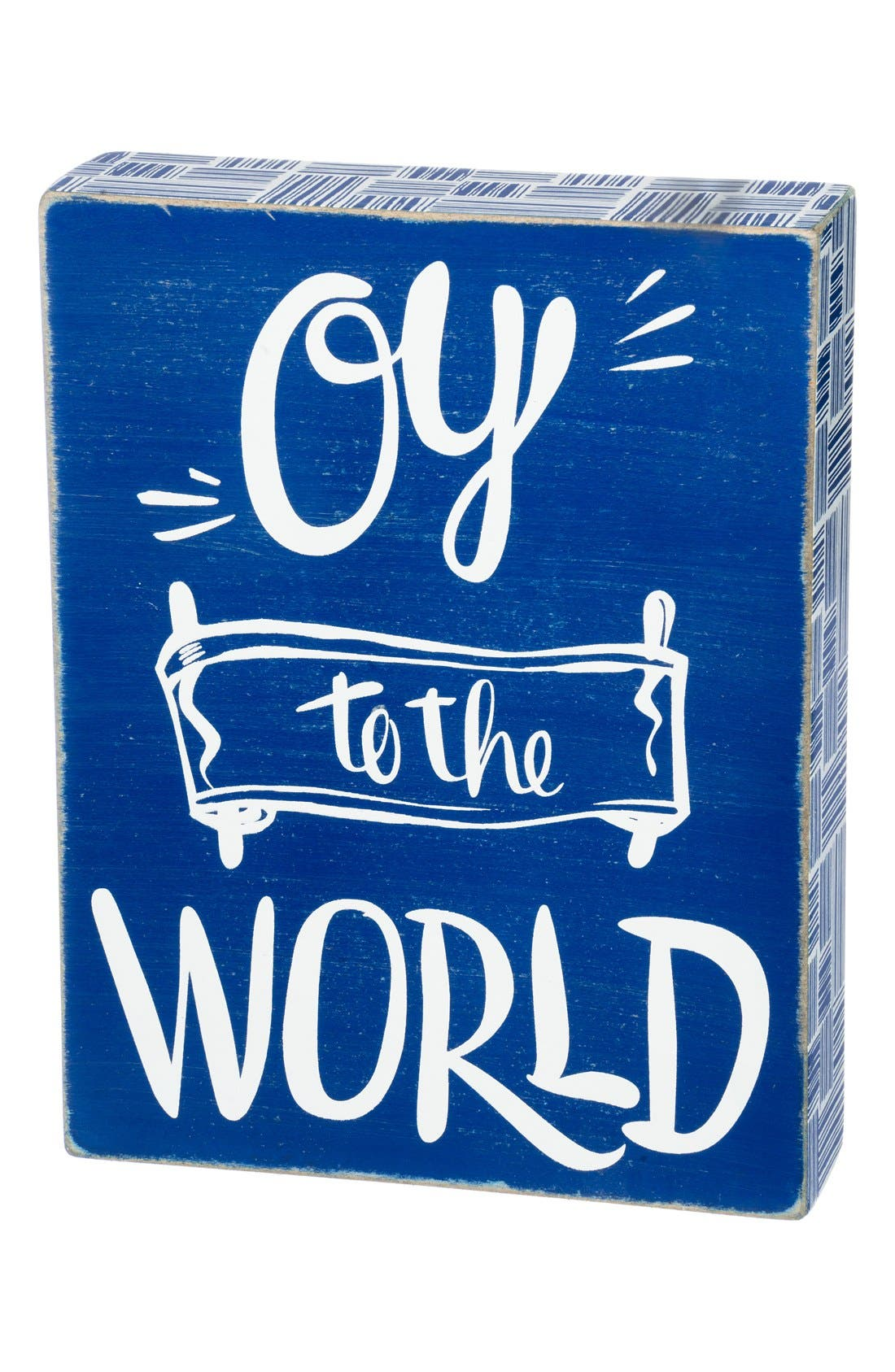 'Oy to the World' Box Sign, Main, color, 400