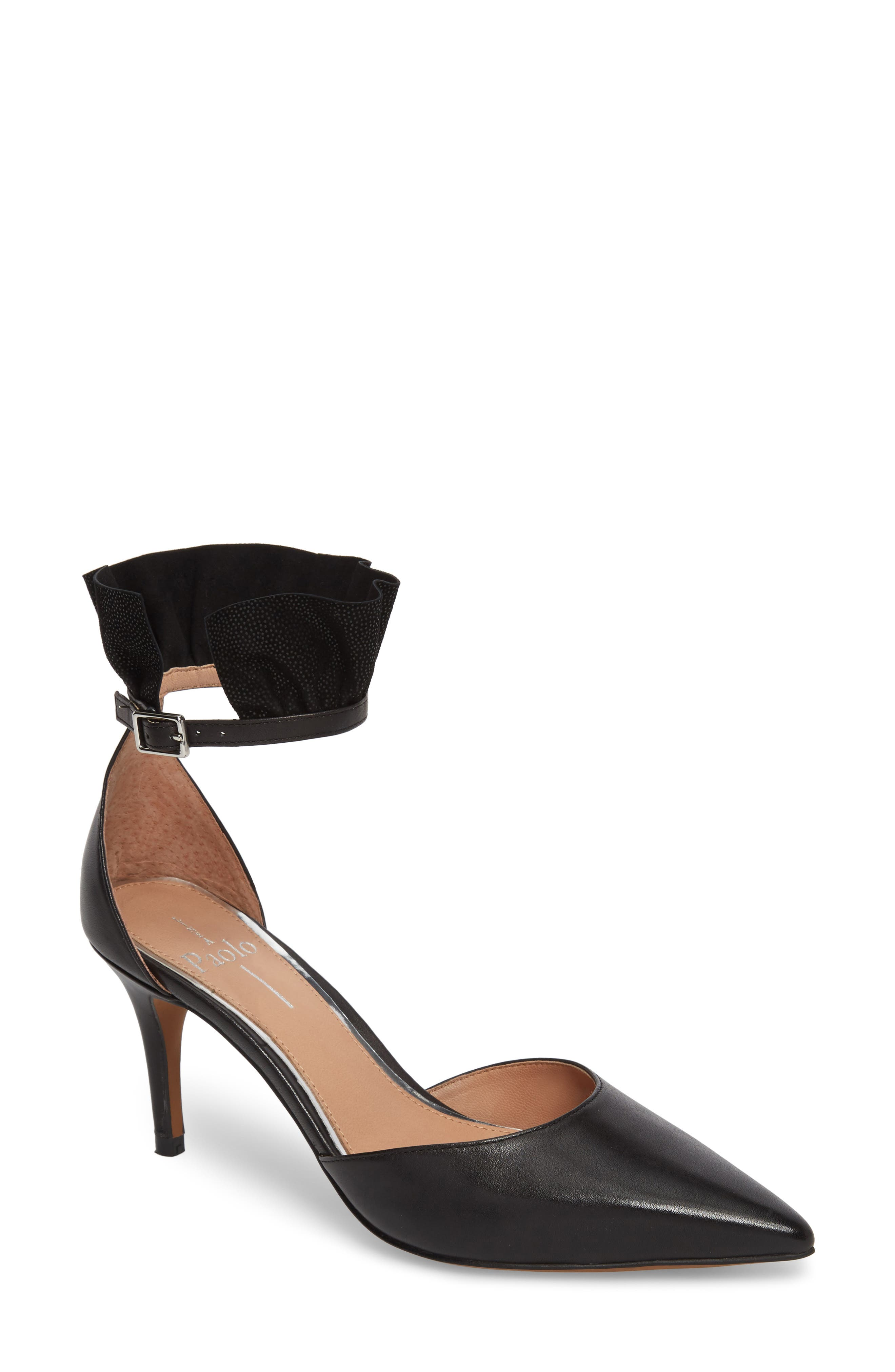 Pammy Ruffled Pointy Toe Pump,                         Main,                         color,