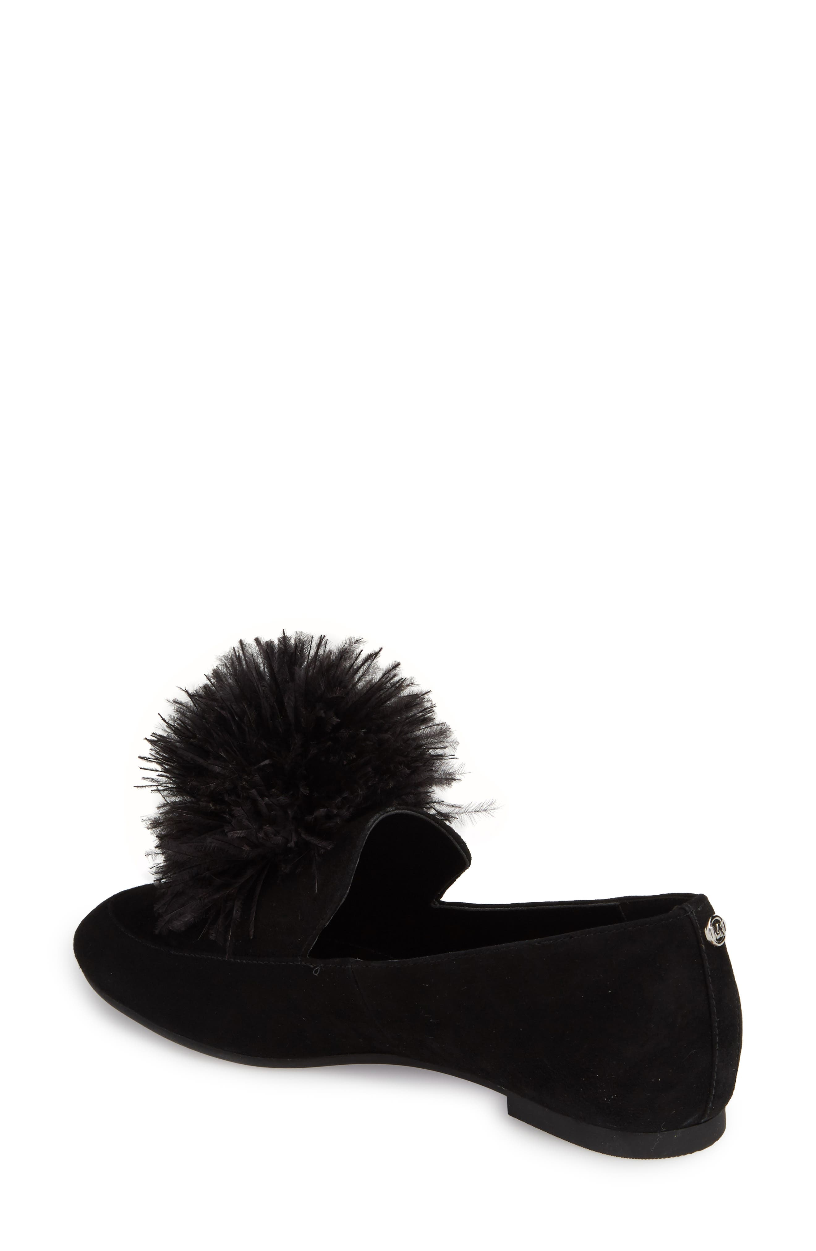 Fara Feather Pom Loafer,                             Alternate thumbnail 2, color,                             001