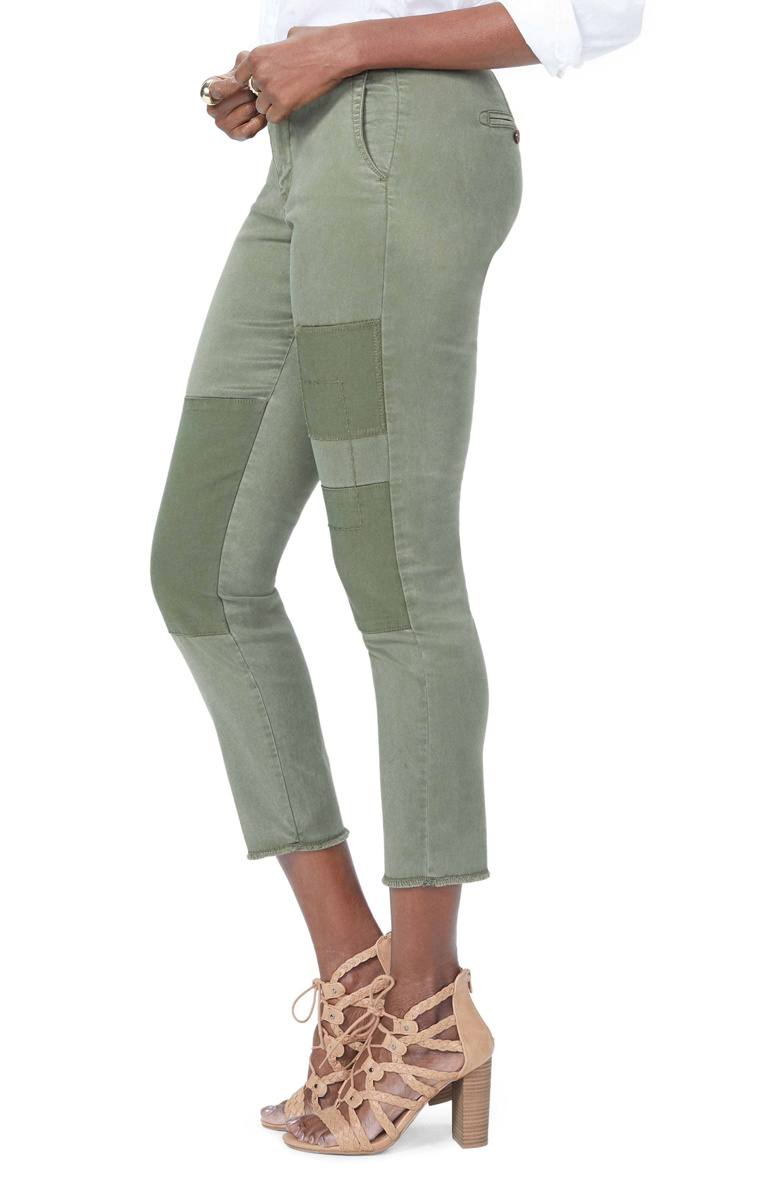 Reverse Patch Skinny Chino Pants,                             Alternate thumbnail 3, color,                             OLIVE