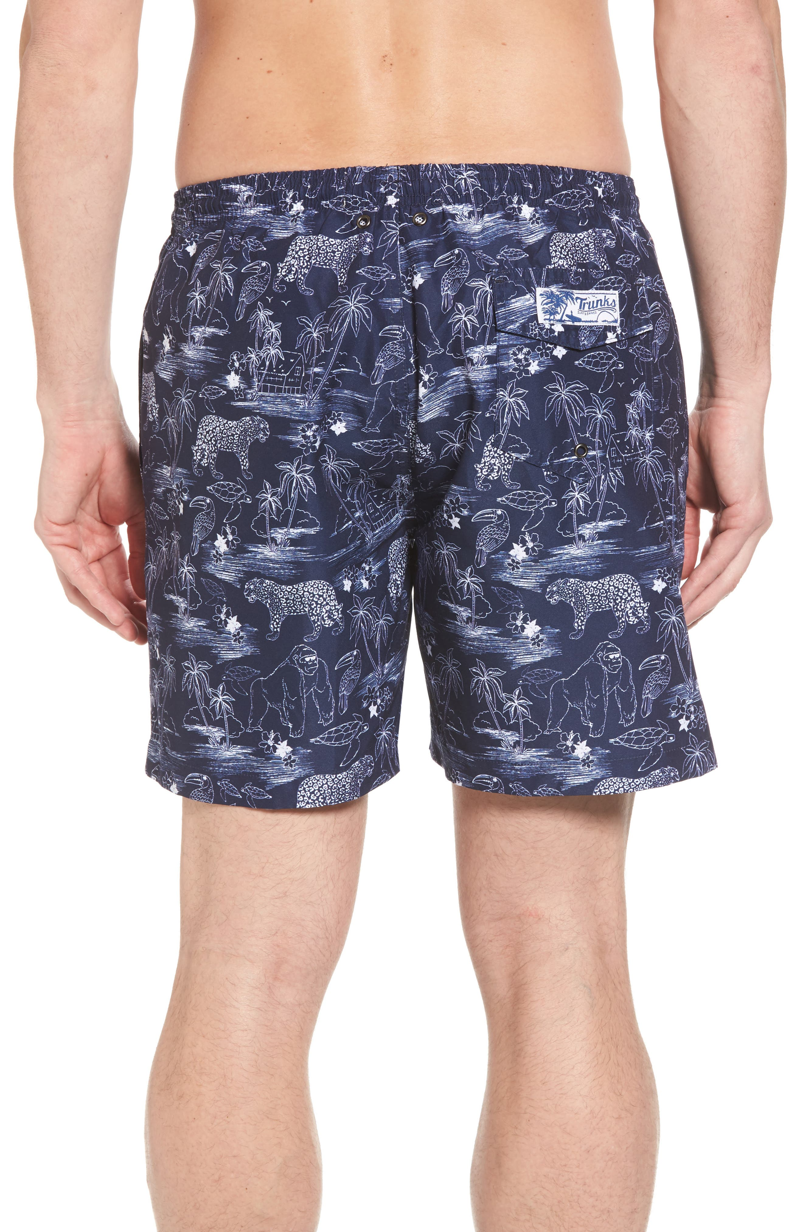 Trunks Surf & Co. San O Jungle Safari Swim Trunks,                             Alternate thumbnail 2, color,                             100
