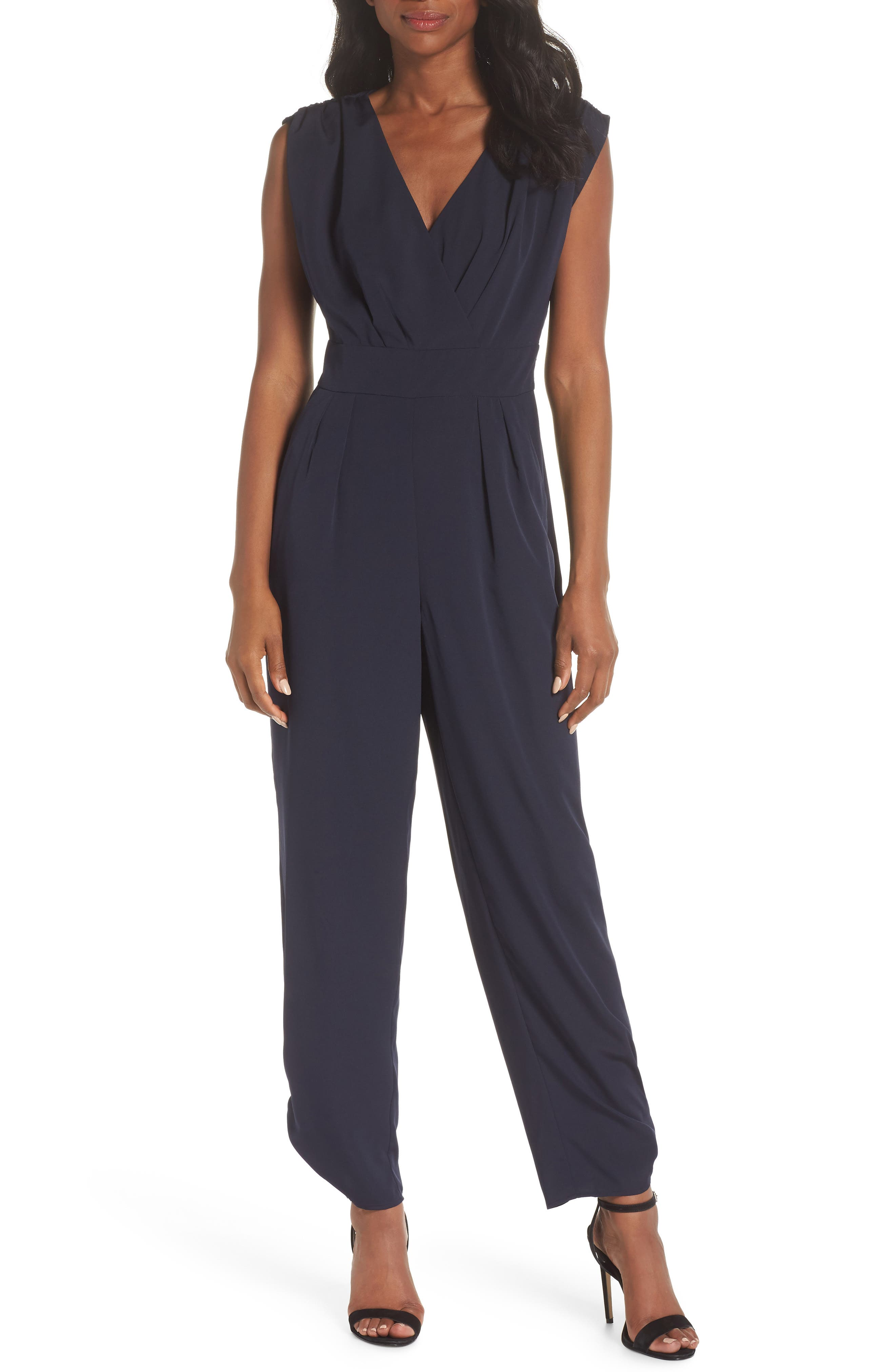 Ruched Ankle Jumpsuit,                         Main,                         color, 410