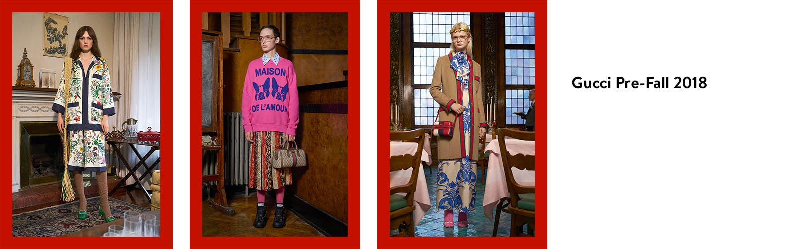 Gucci pre-fall 2018 clothing for women.