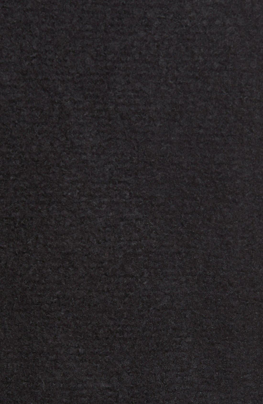 Knit Moto Jacket,                             Alternate thumbnail 9, color,                             BLACK