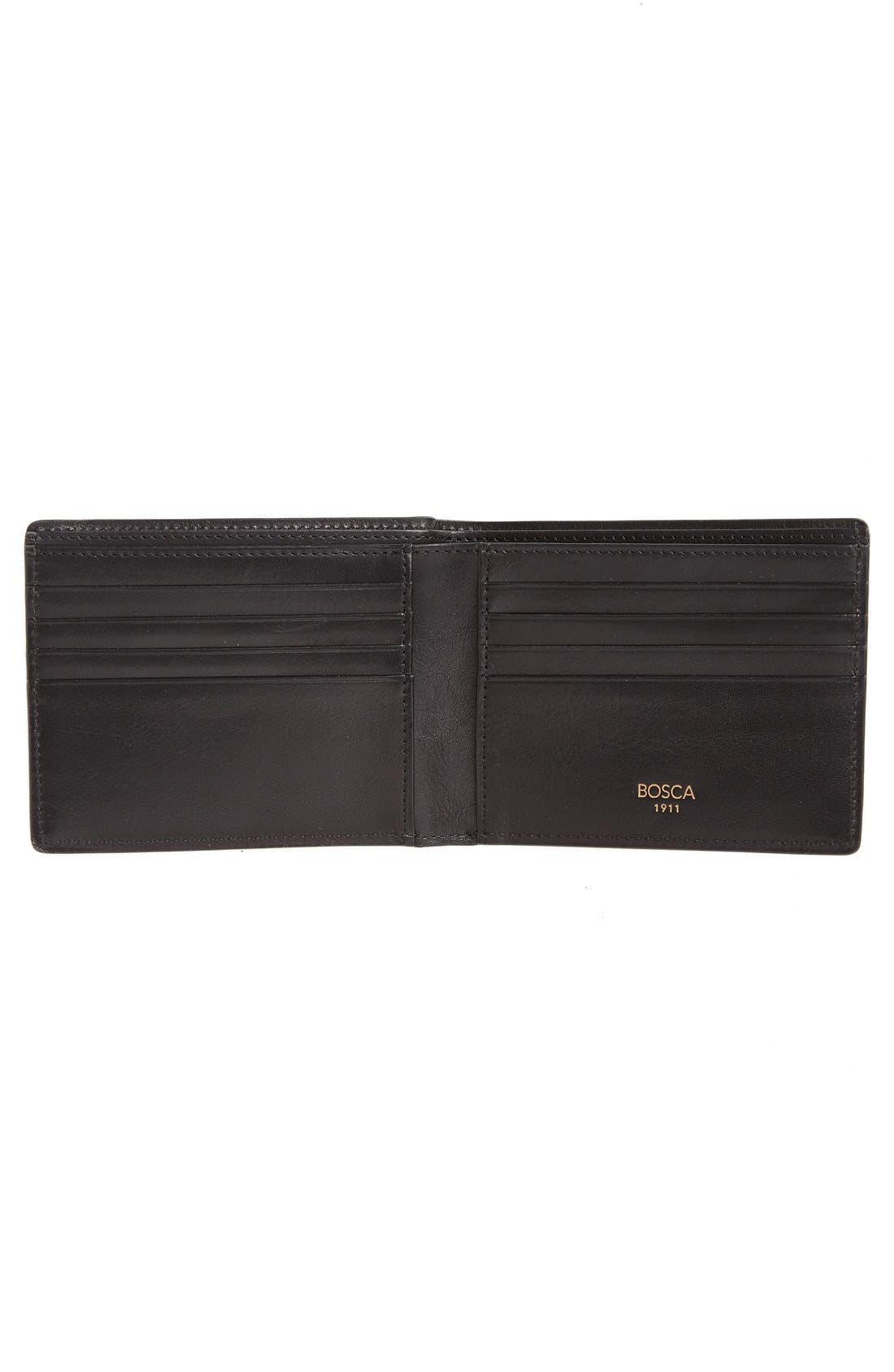 Leather Bifold Wallet,                             Alternate thumbnail 2, color,                             001