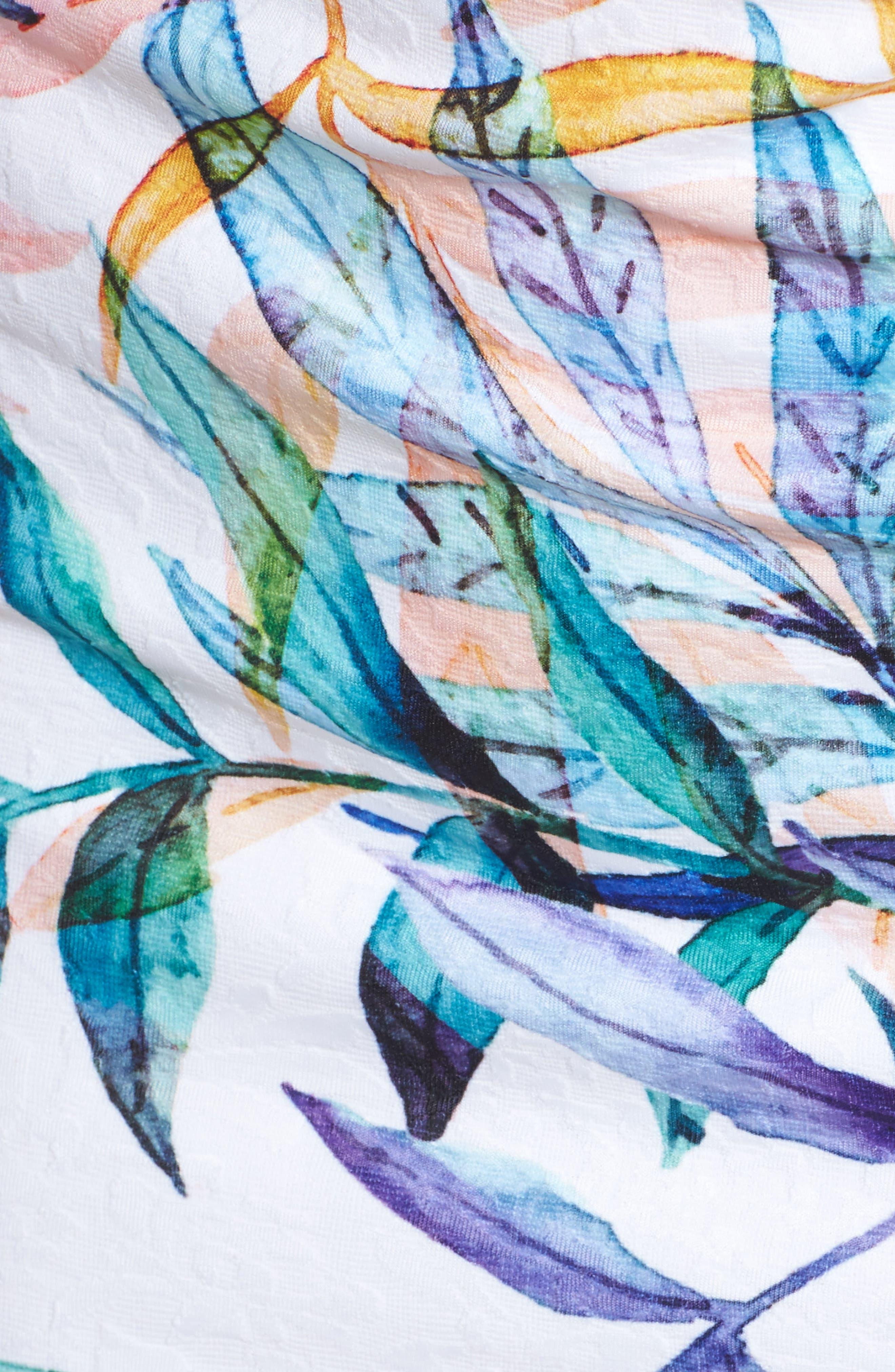 Watercolor Leaves Sheath Dress,                             Alternate thumbnail 5, color,                             900