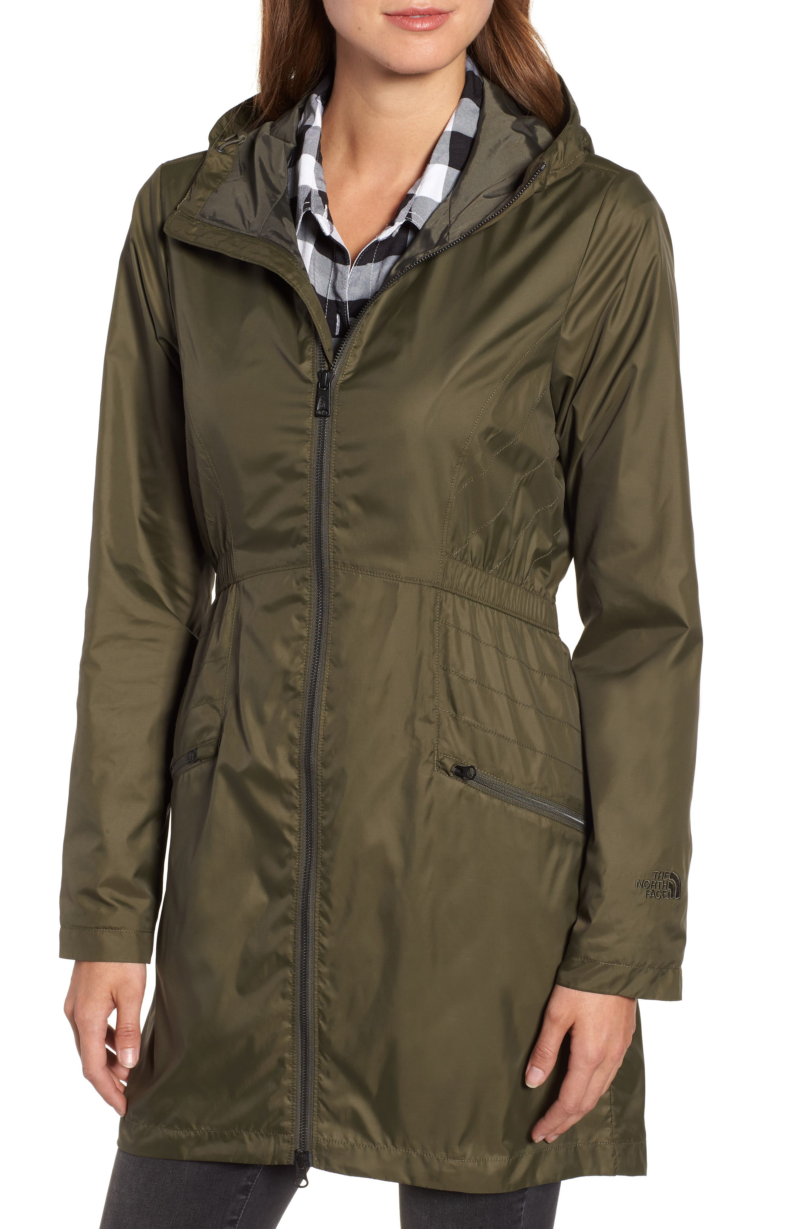 Rissy 2 Wind Resistant Jacket,                             Alternate thumbnail 4, color,                             NEW TAUPE GREEN