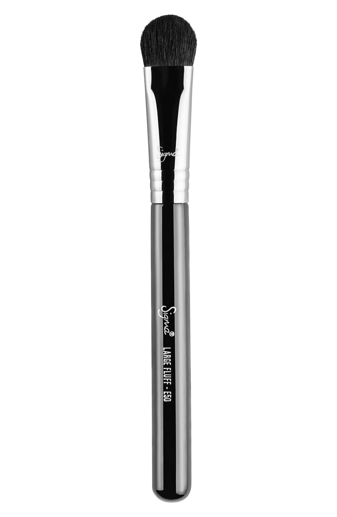 E50 Large Fluff Brush,                             Main thumbnail 1, color,                             NO COLOR
