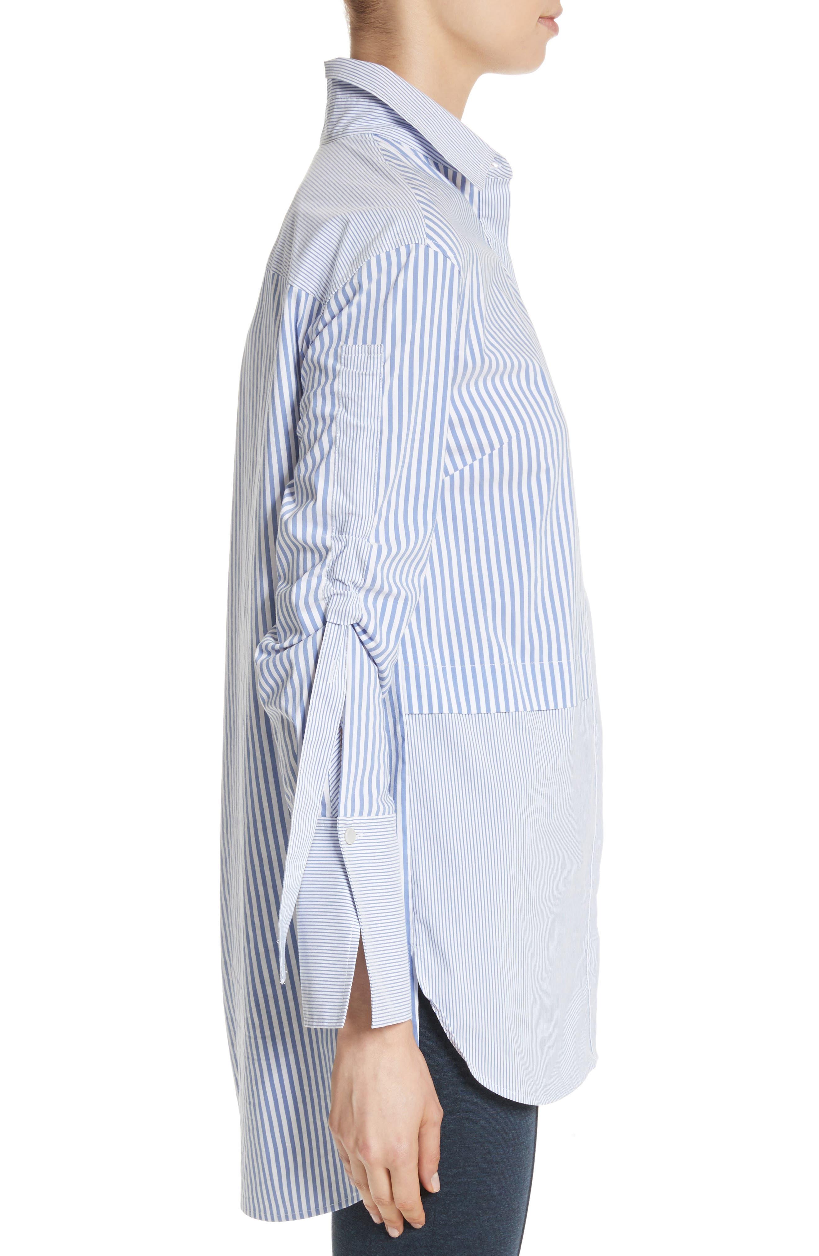 Striped Shirting Tunic,                             Alternate thumbnail 4, color,
