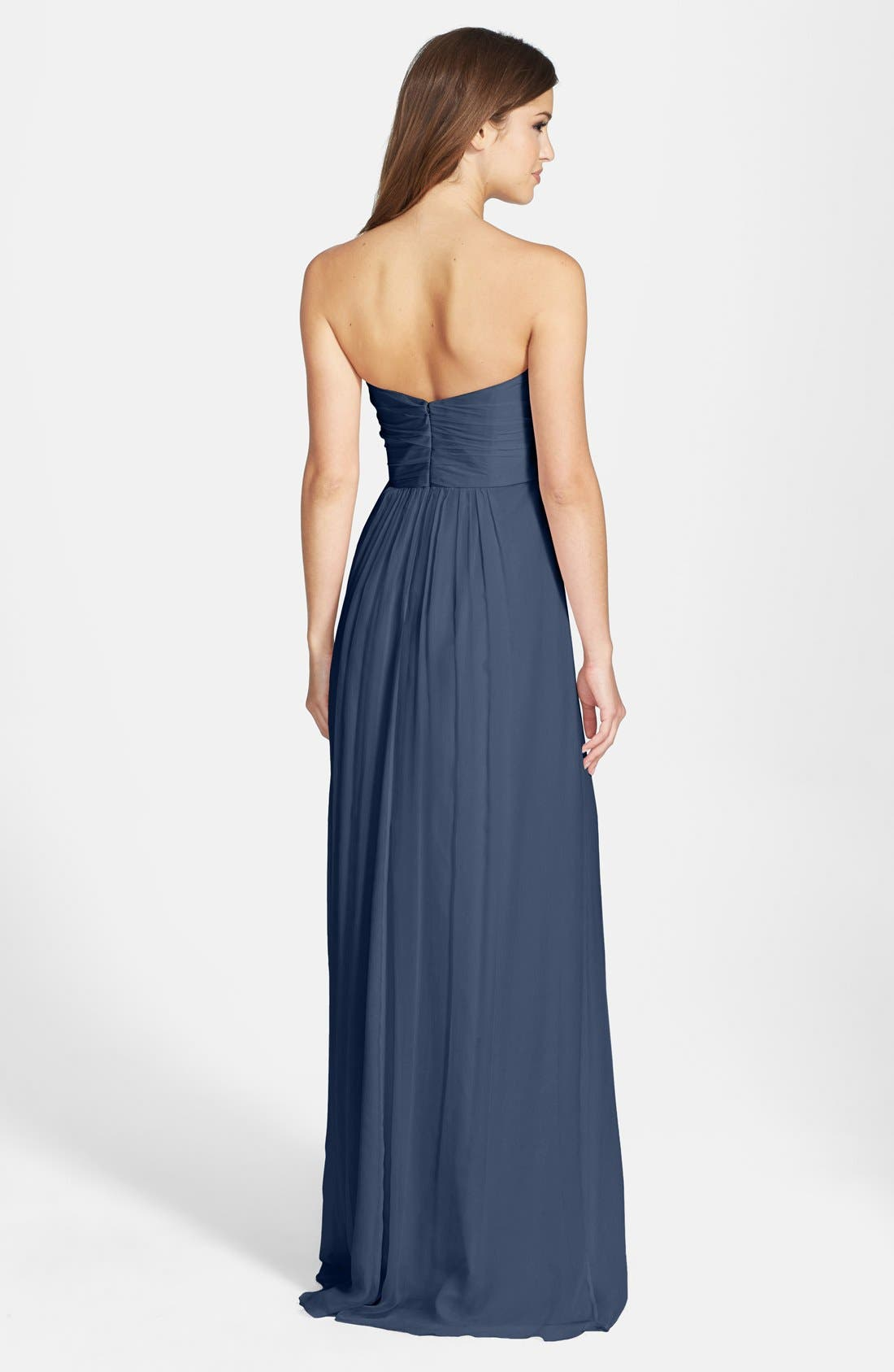 Strapless Crinkle Chiffon Gown,                             Alternate thumbnail 36, color,