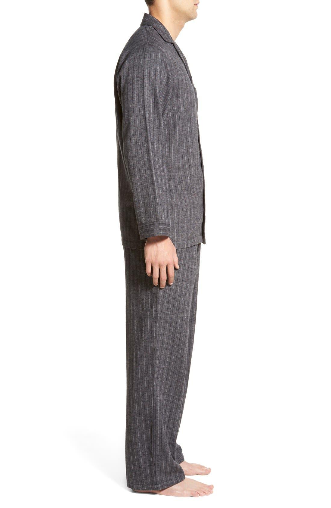 '824' Flannel Pajama Set,                             Alternate thumbnail 67, color,