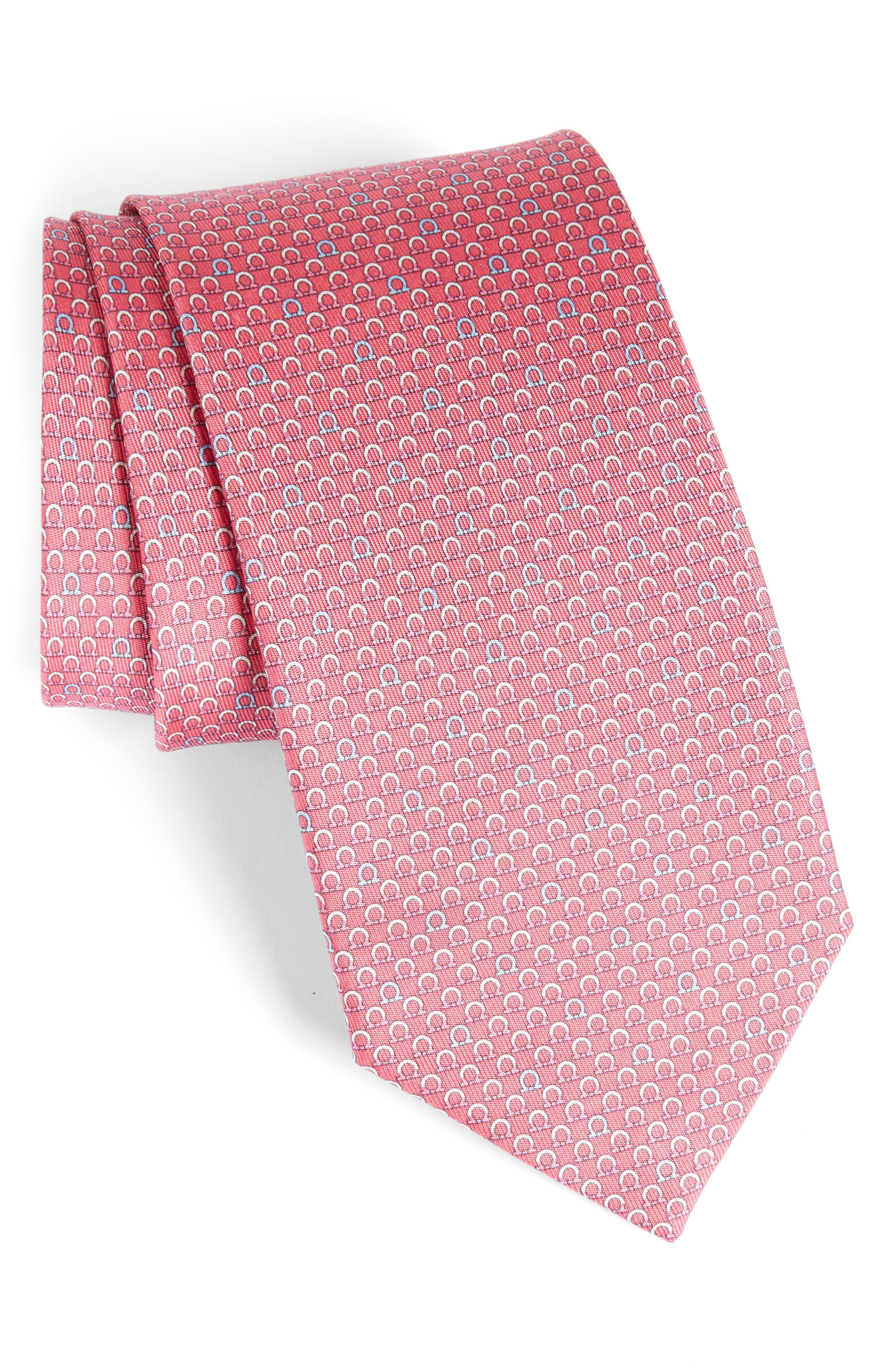 Geometric Print Silk Tie,                             Main thumbnail 3, color,