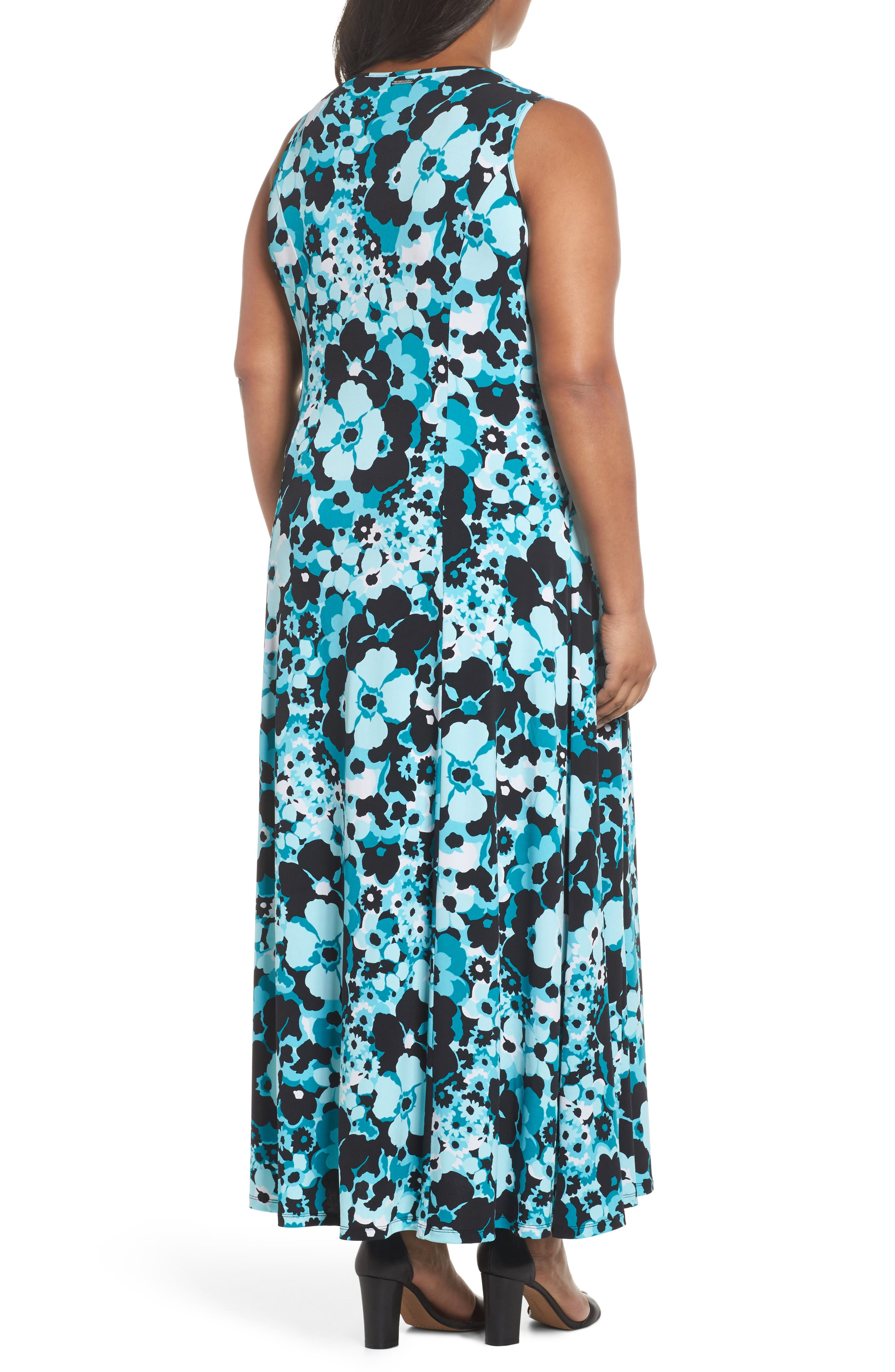 Spring Floral Maxi Tank Dress,                             Alternate thumbnail 2, color,