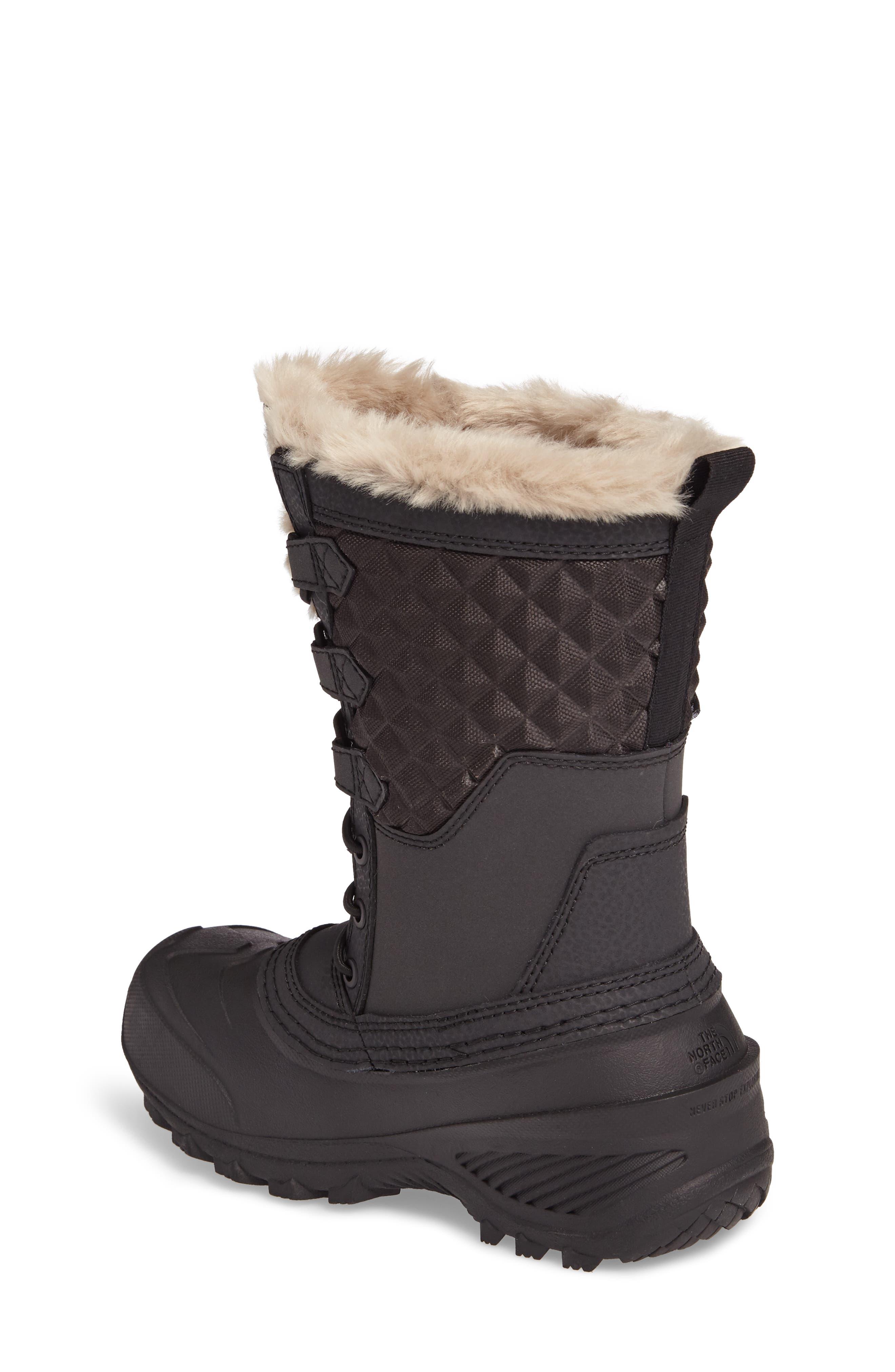 Shellista Lace III Faux Fur Waterproof Boot,                             Alternate thumbnail 4, color,