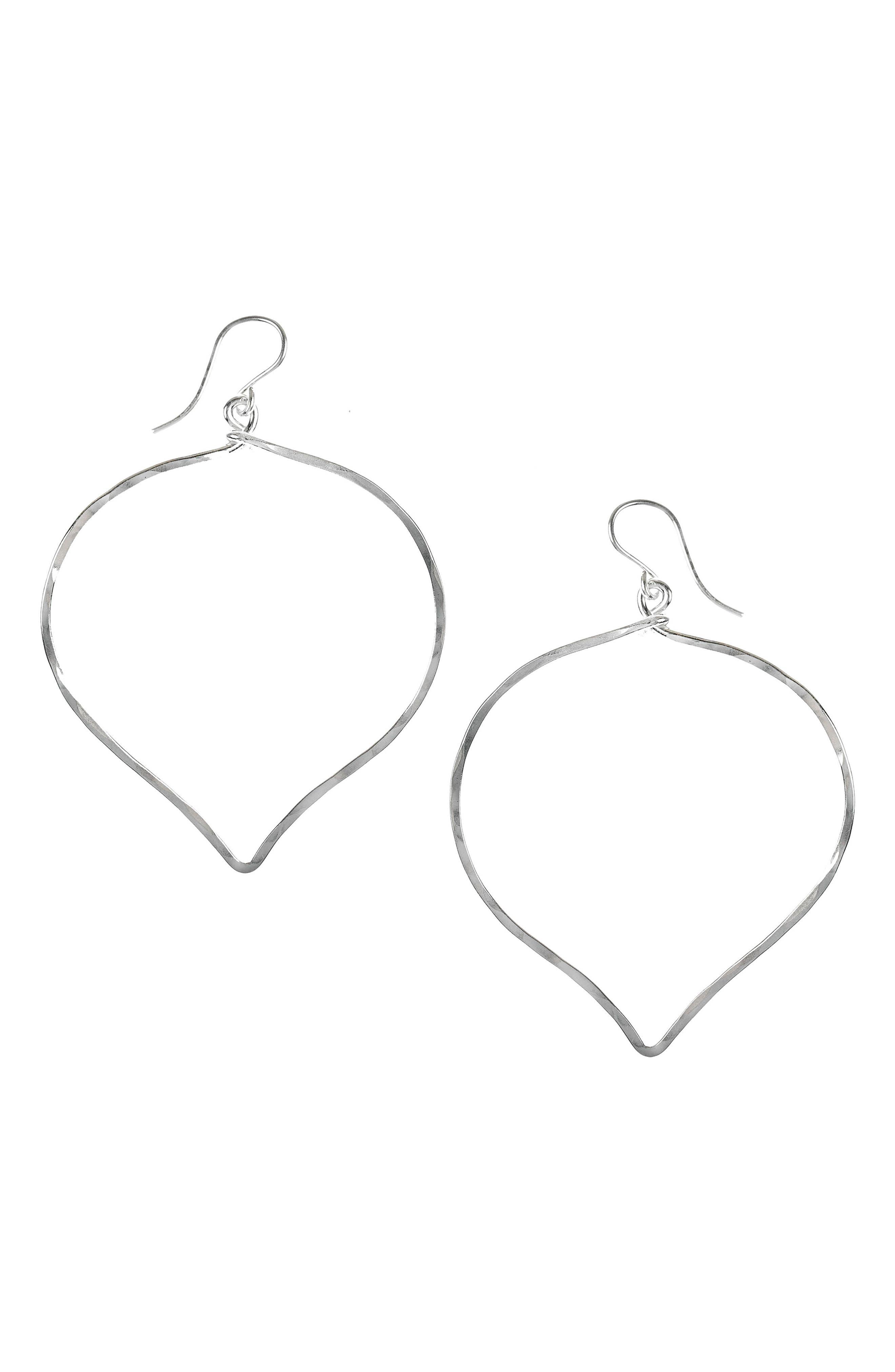 Ija 'Large' Faceted Lotus Hoop Earrings,                             Main thumbnail 1, color,                             040