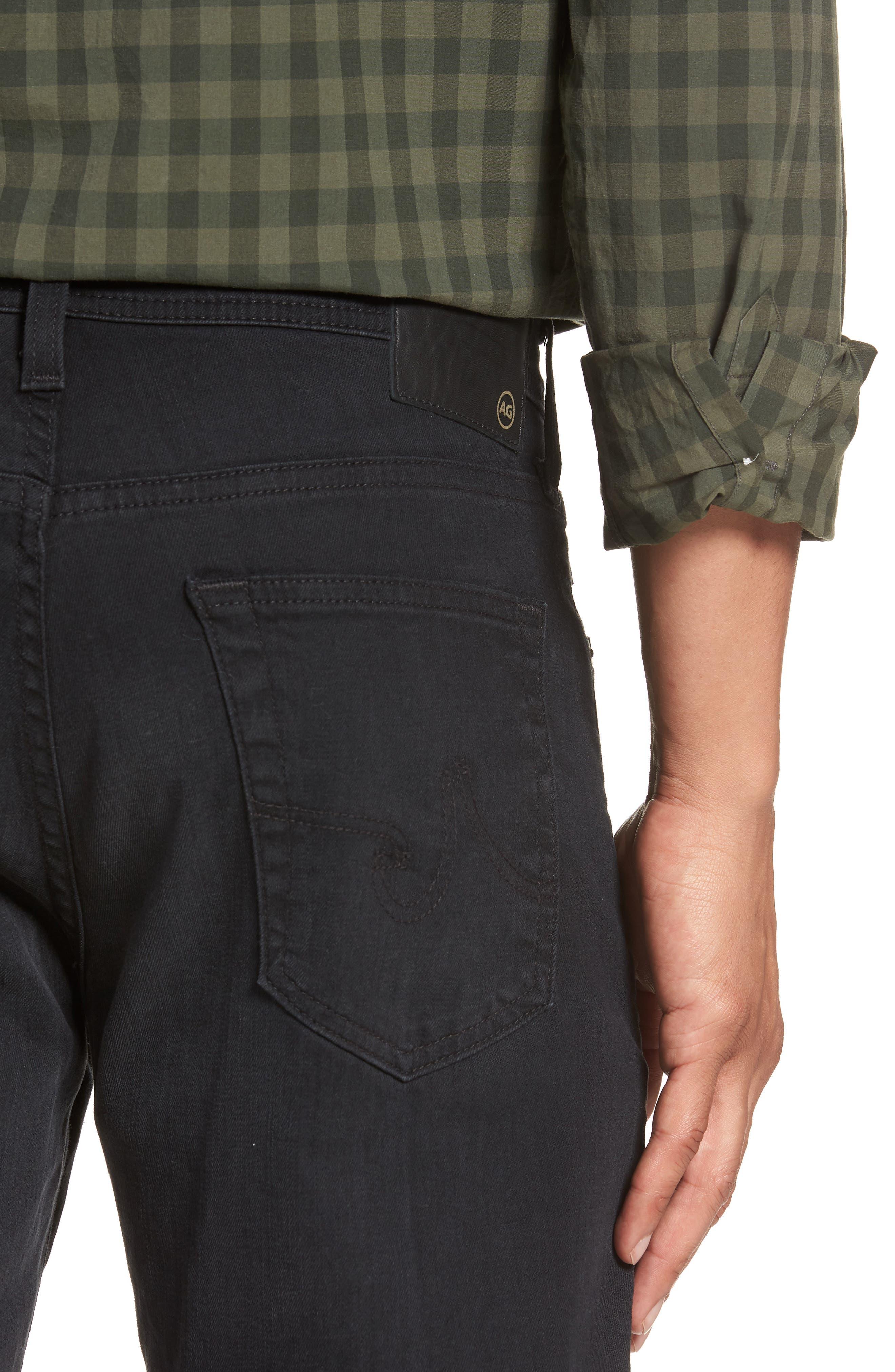 Everett Slim Straight Leg Jeans,                             Alternate thumbnail 4, color,                             001