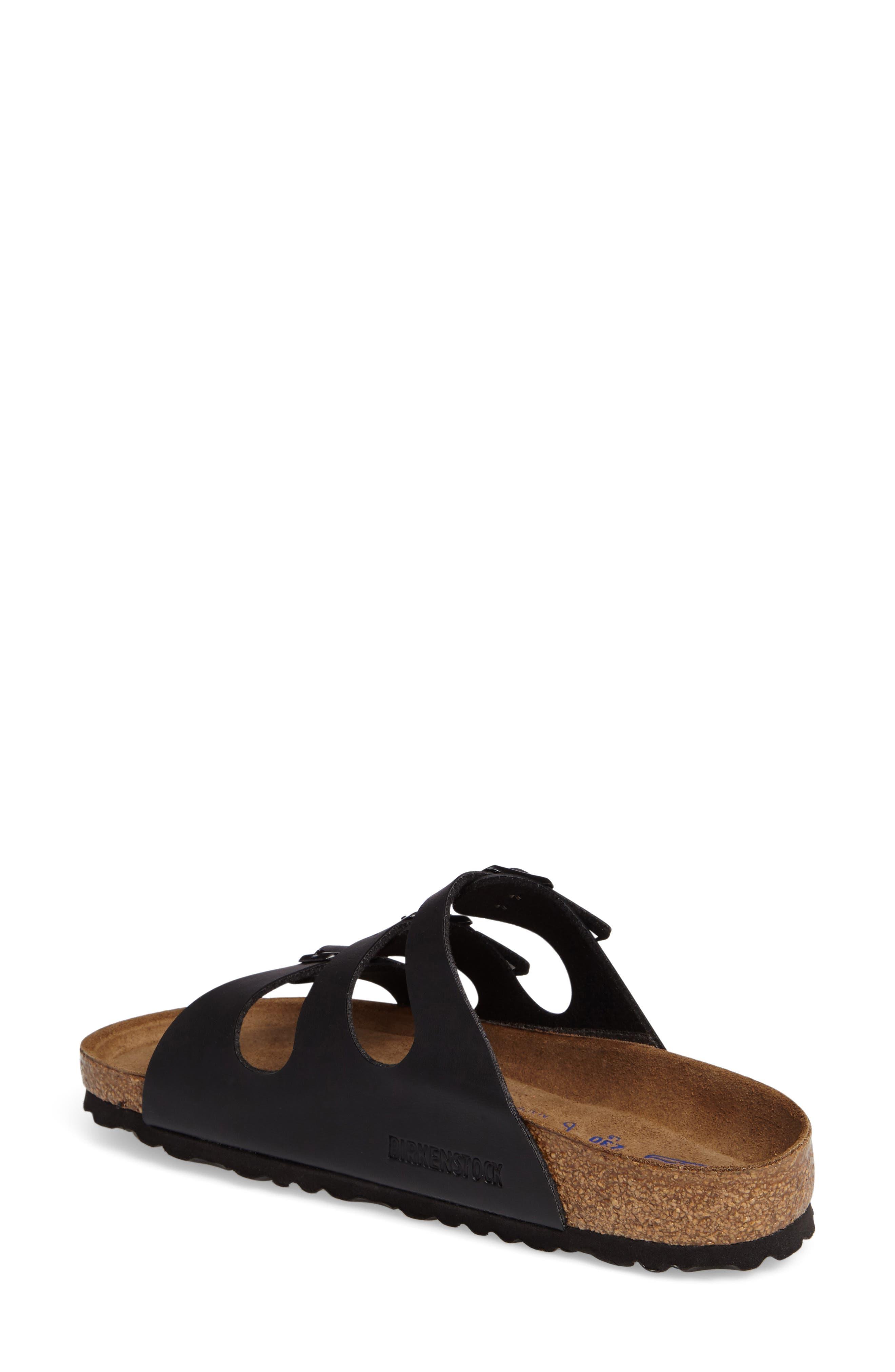 Florida Soft Footbed Slide Sandal,                             Alternate thumbnail 2, color,                             BLACK