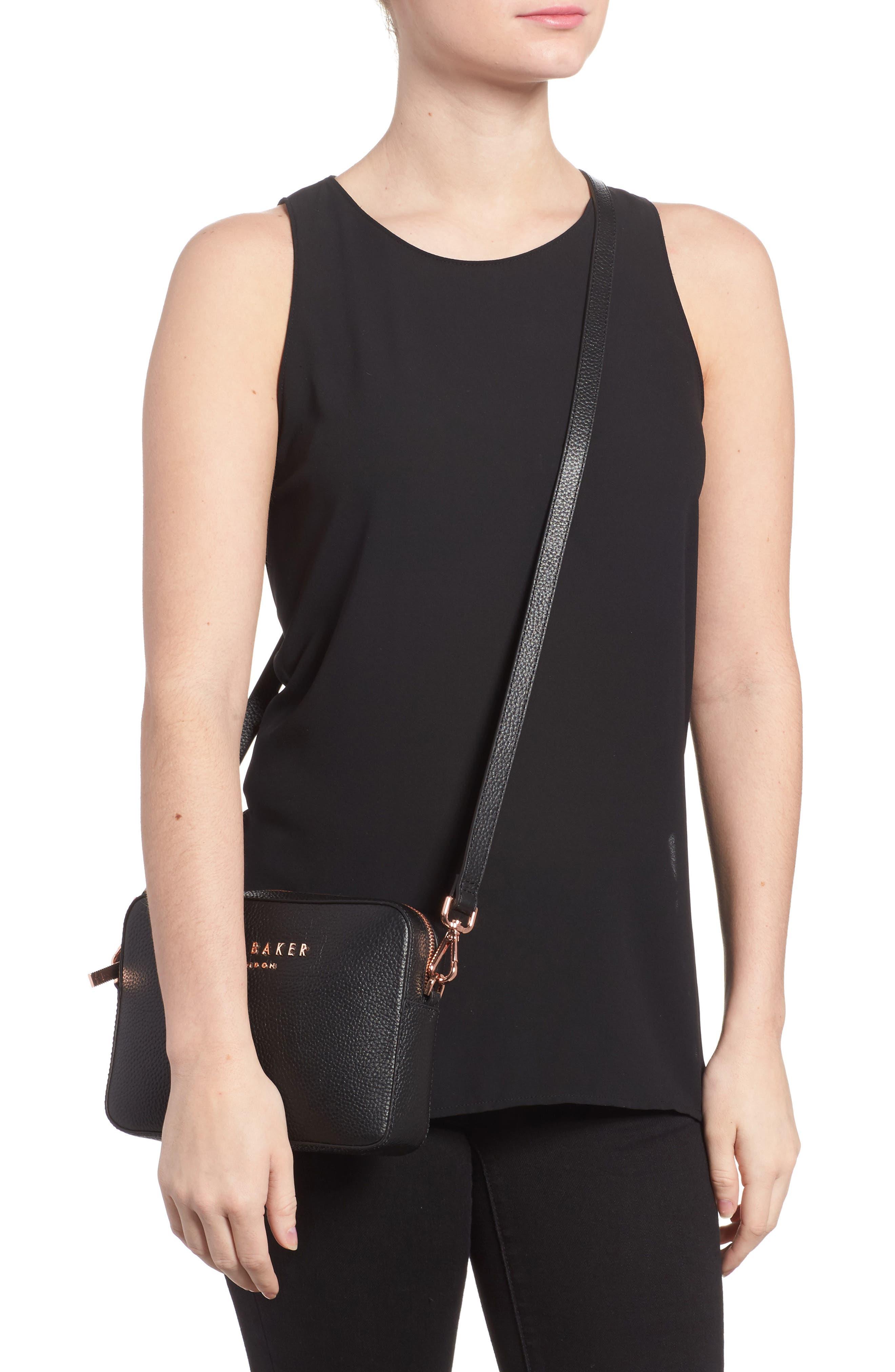 Susi Leather Crossbody Bag,                             Alternate thumbnail 2, color,                             001