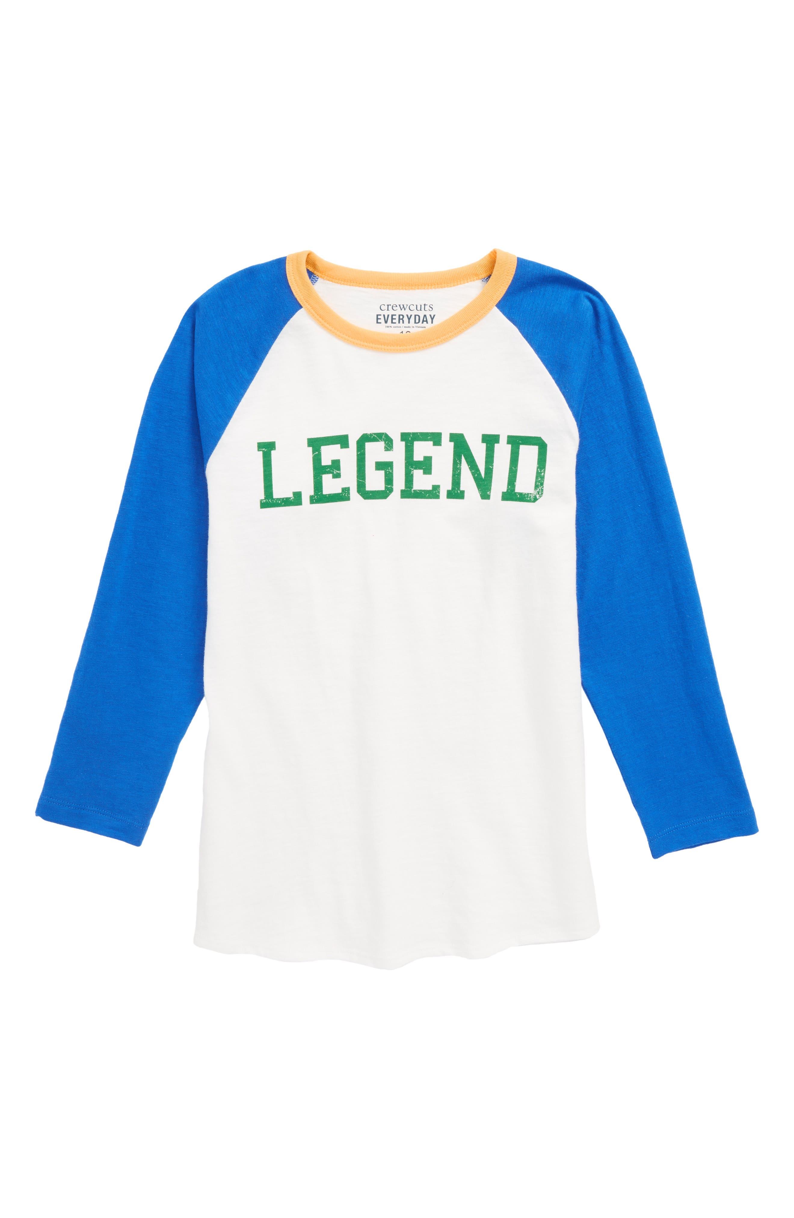 Legend Baseball T-Shirt,                             Main thumbnail 1, color,                             900