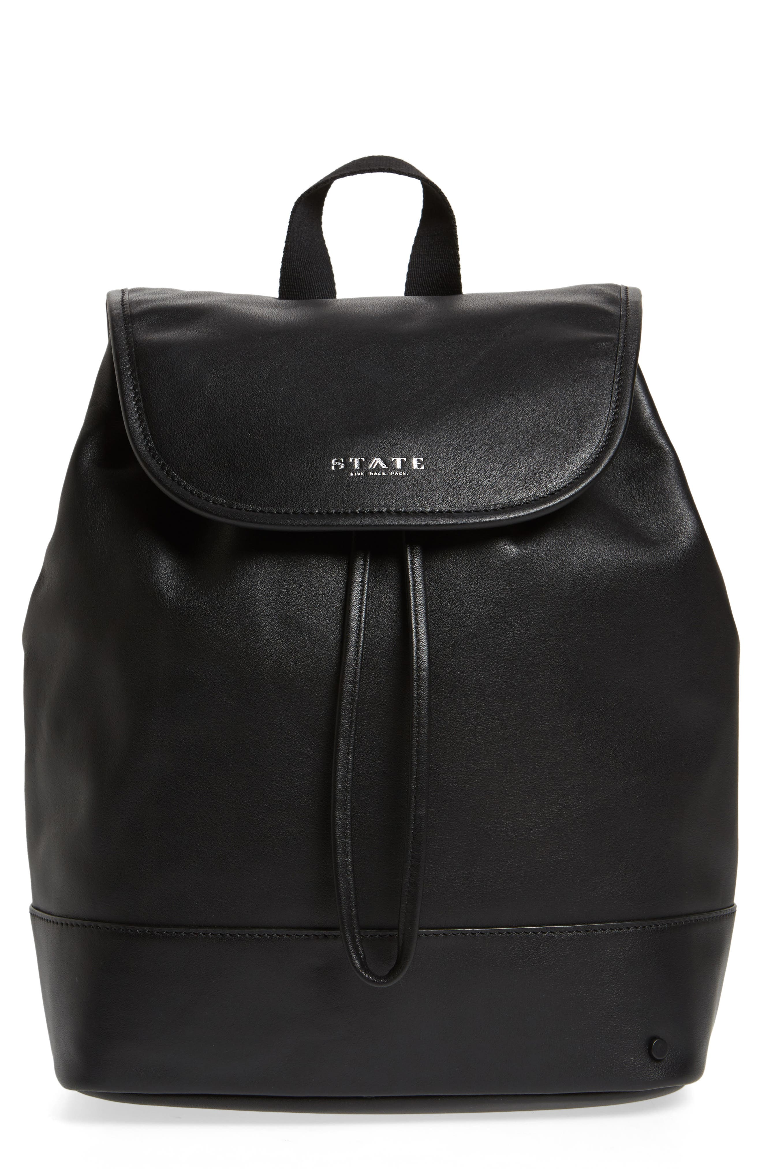Parkville Hattie Leather Backpack,                         Main,                         color, 001