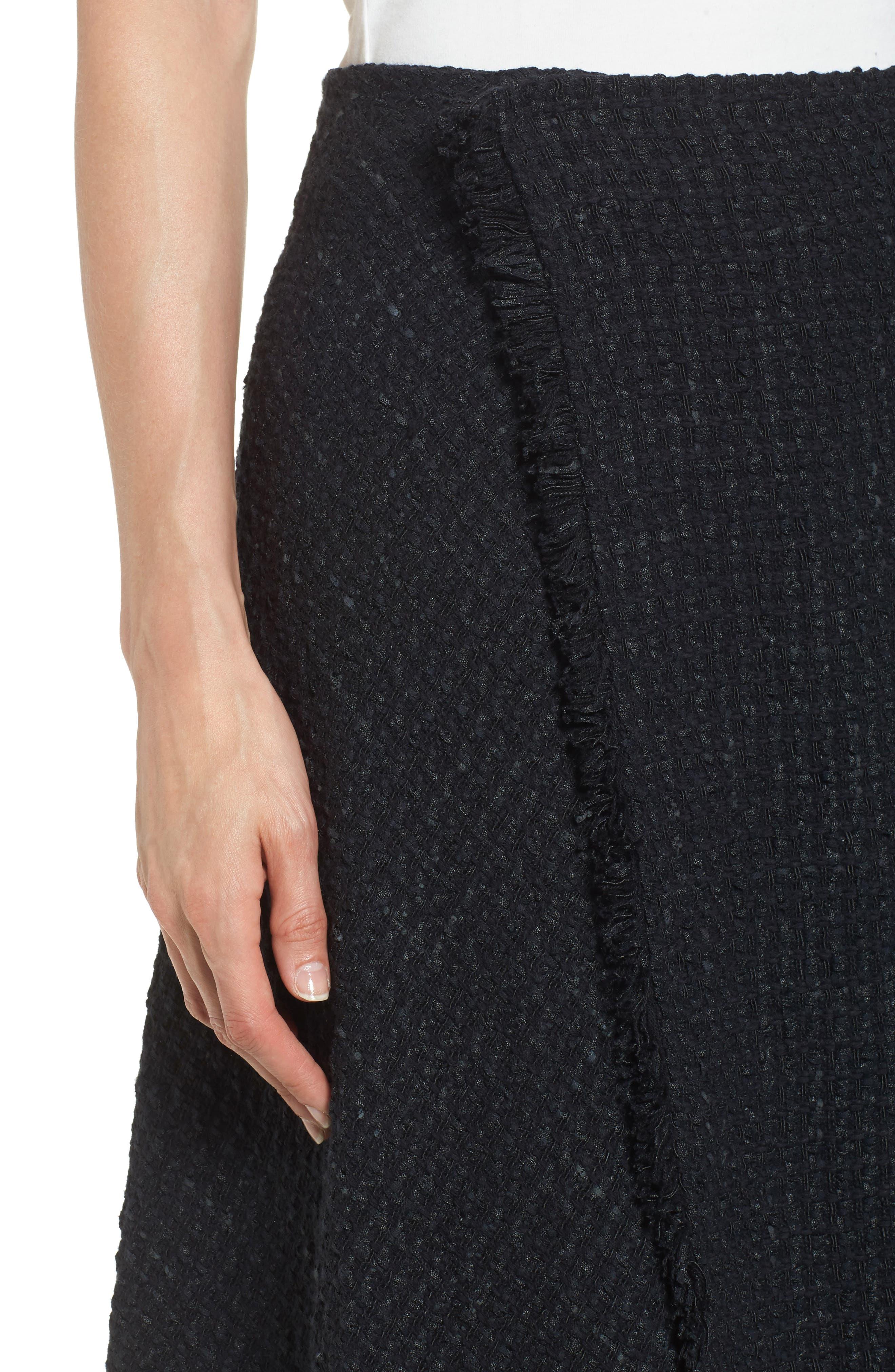 NIC + ZOE Majestic Tweed Skirt,                             Alternate thumbnail 4, color,                             004