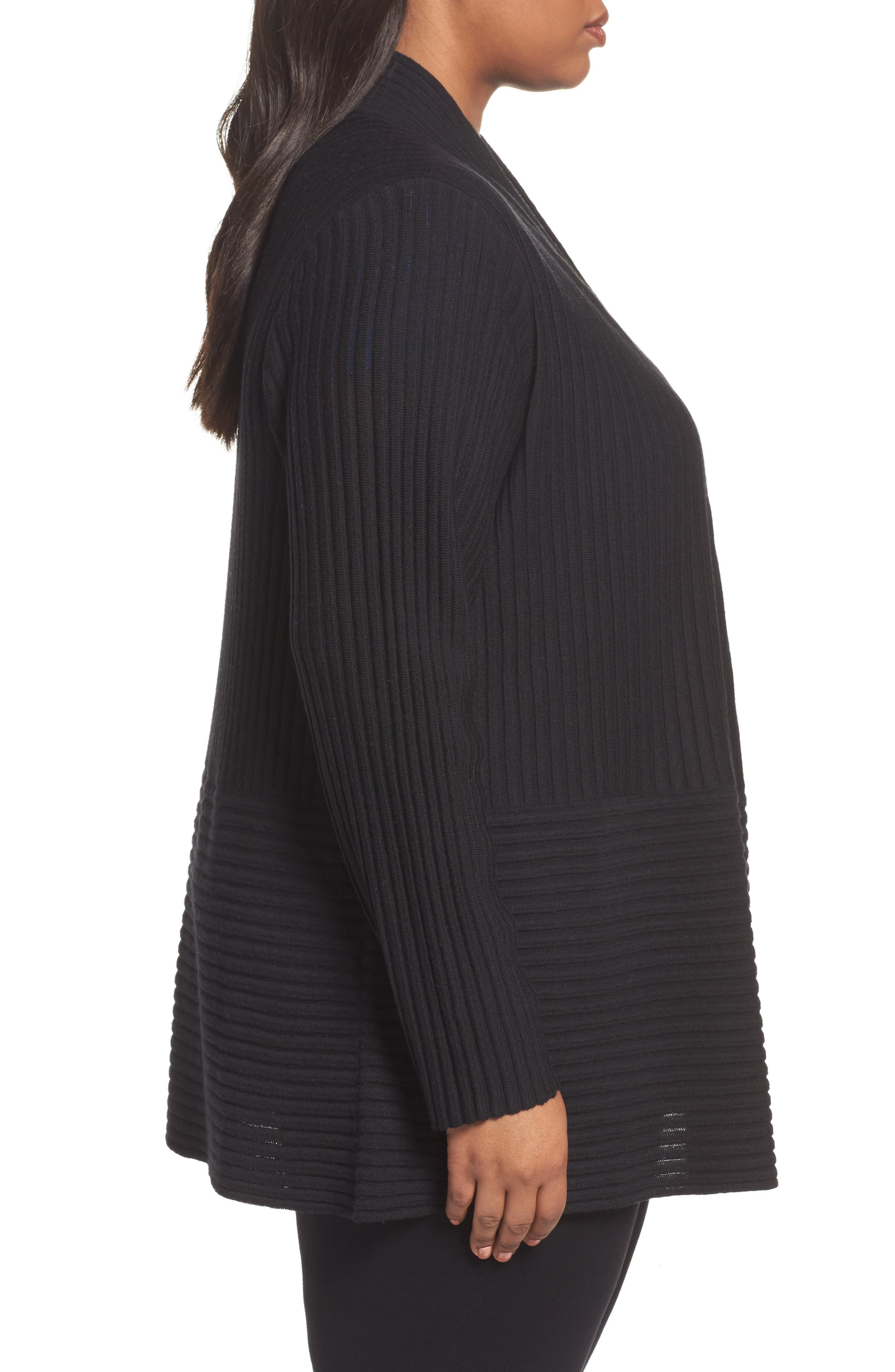 Ribbed Merino Wool Long Cardigan,                             Alternate thumbnail 9, color,