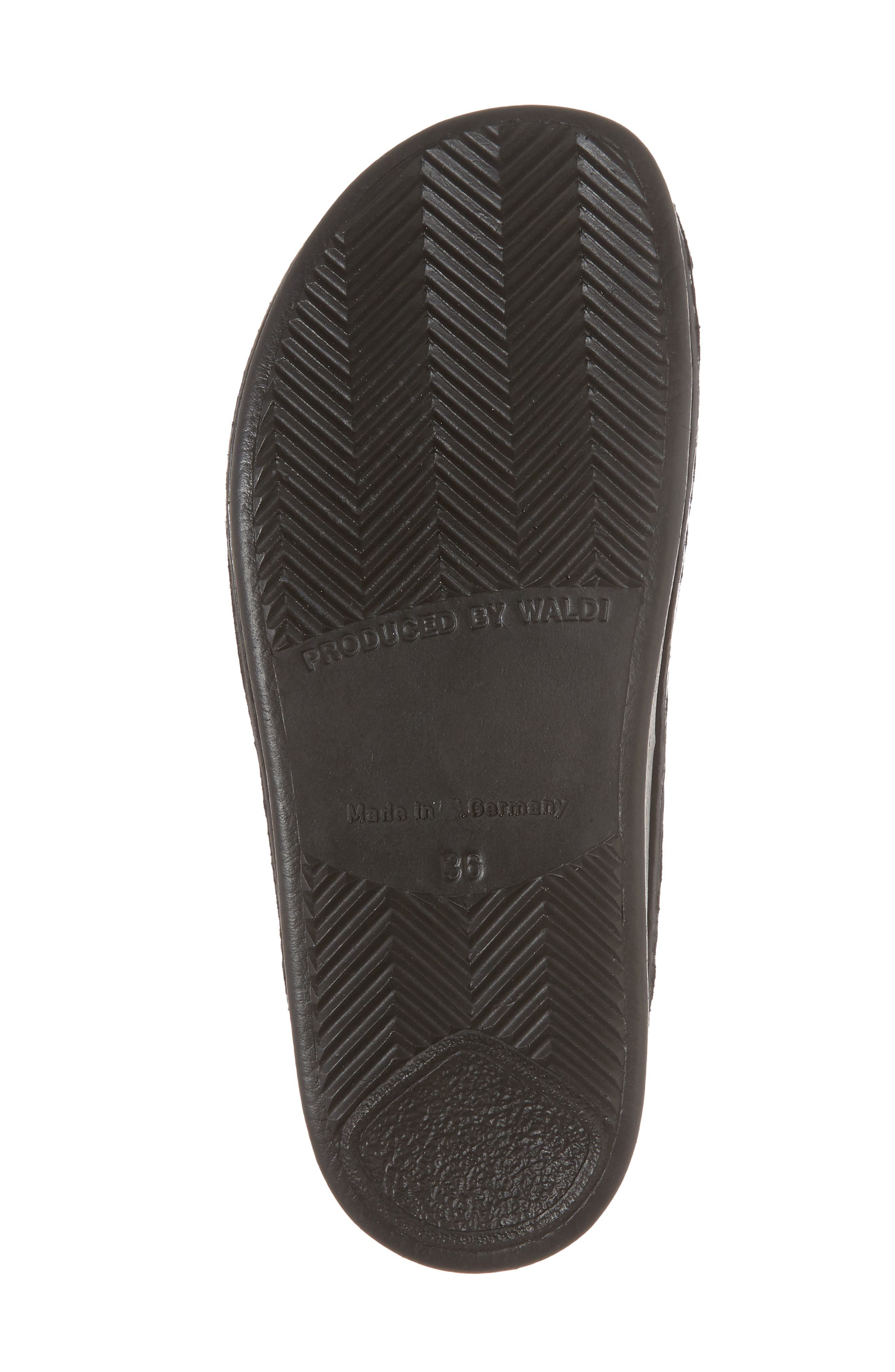 Harper Slide Sandal,                             Alternate thumbnail 6, color,                             BLACK LEATHER